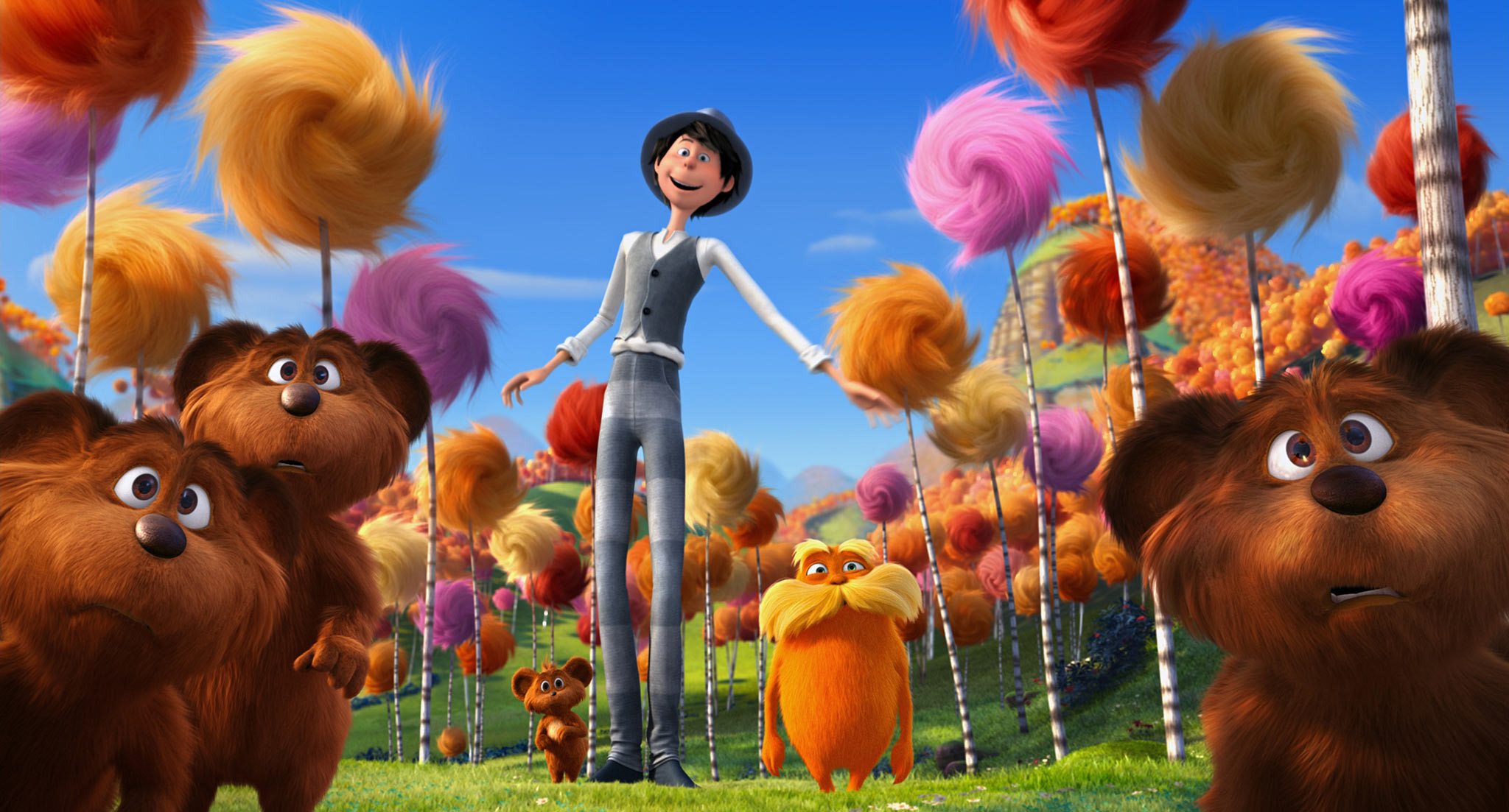 Res: 2048x1103, Dr Seuss The Lorax Wallpaper 2 - 2048 X 1103