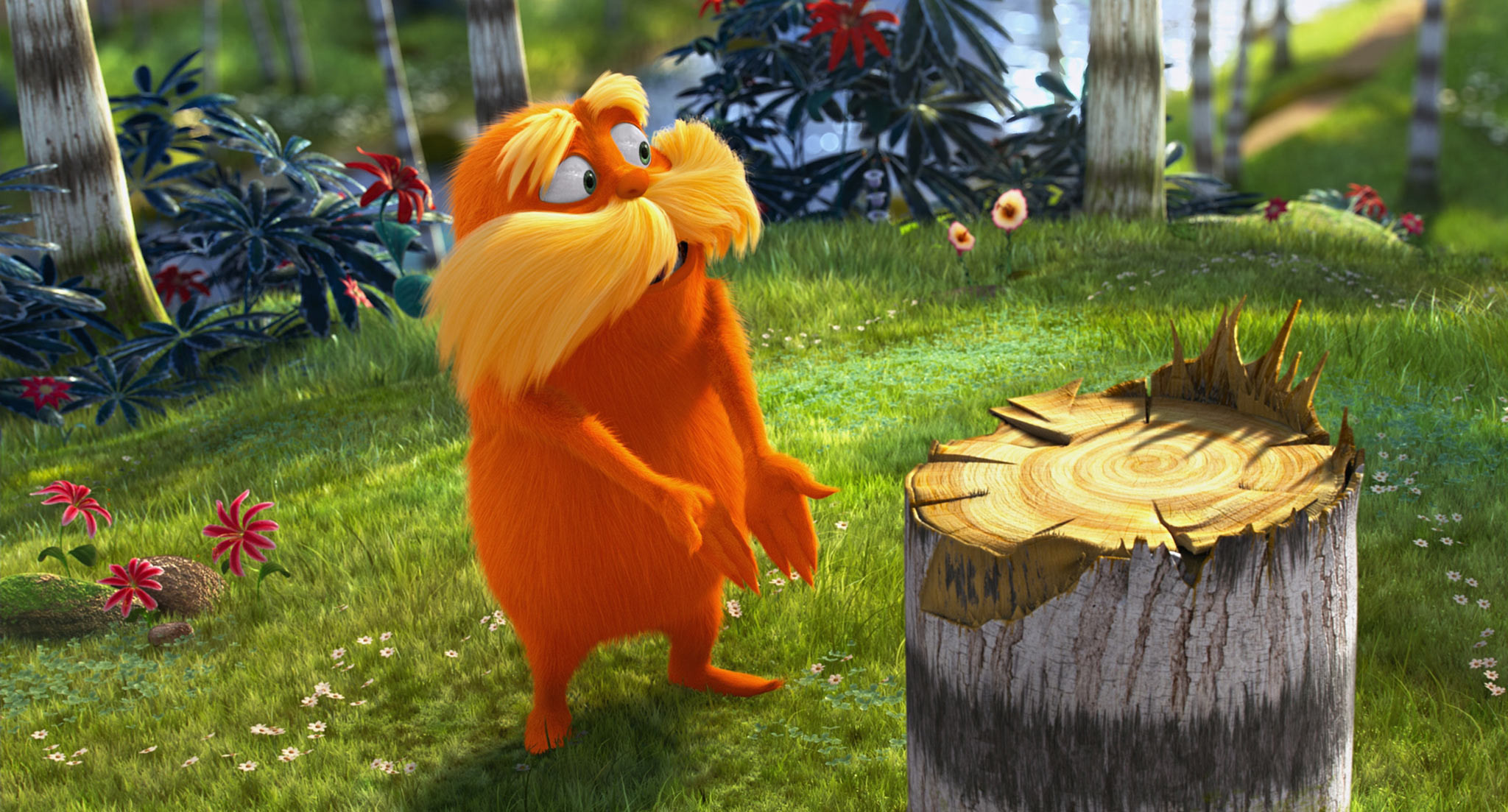 Res: 2048x1103, The Lorax in Dr. Seuss' The Lorax Movie wallpaper