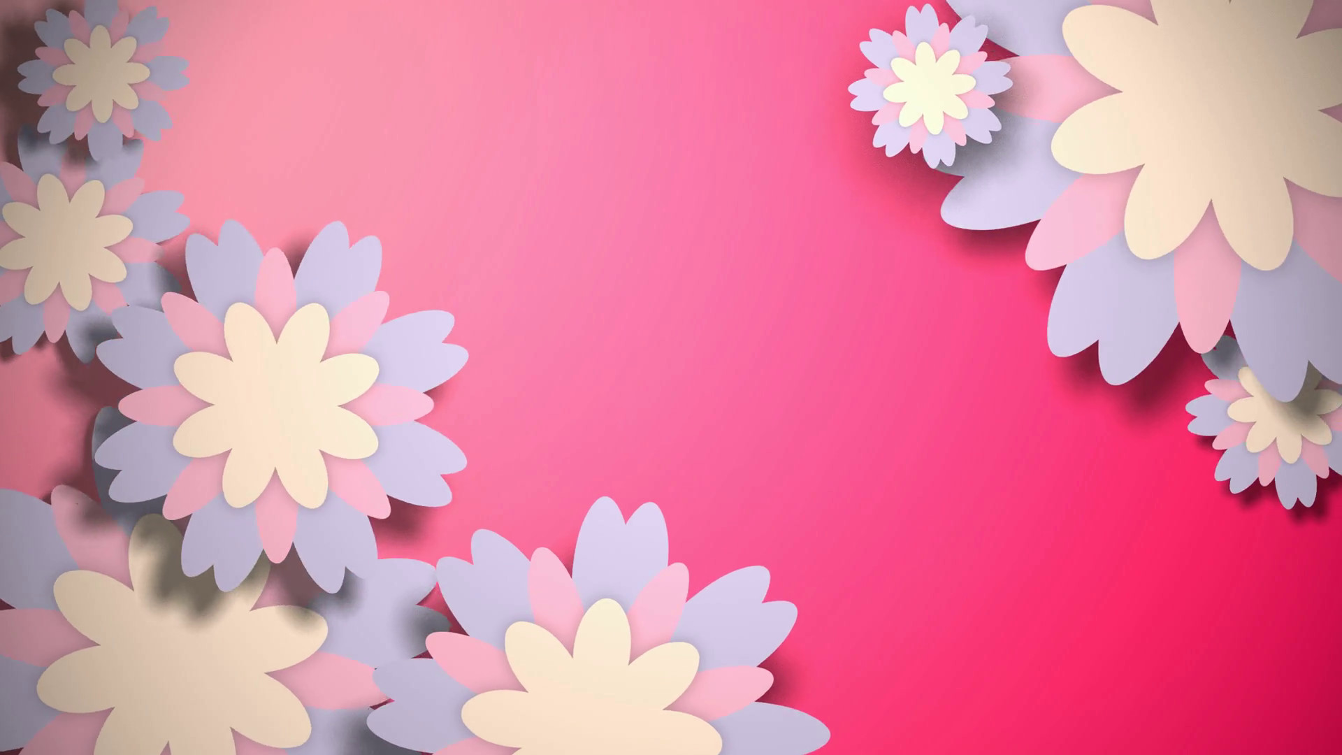 Res: 1920x1080, Animated wallpaper with pastel color flowers on pink background. Motion  Background - Storyblocks Video