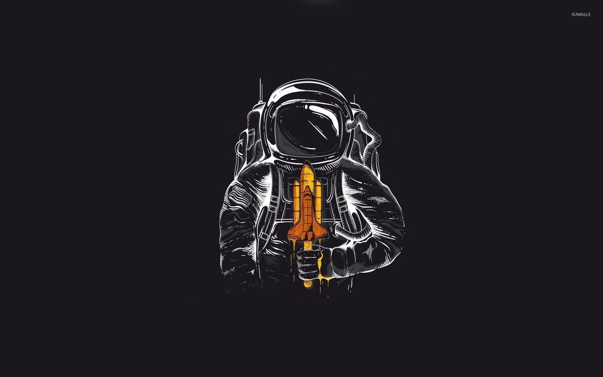 Res: 1920x1200, Astronaut with a space shuttle lollipop wallpaper