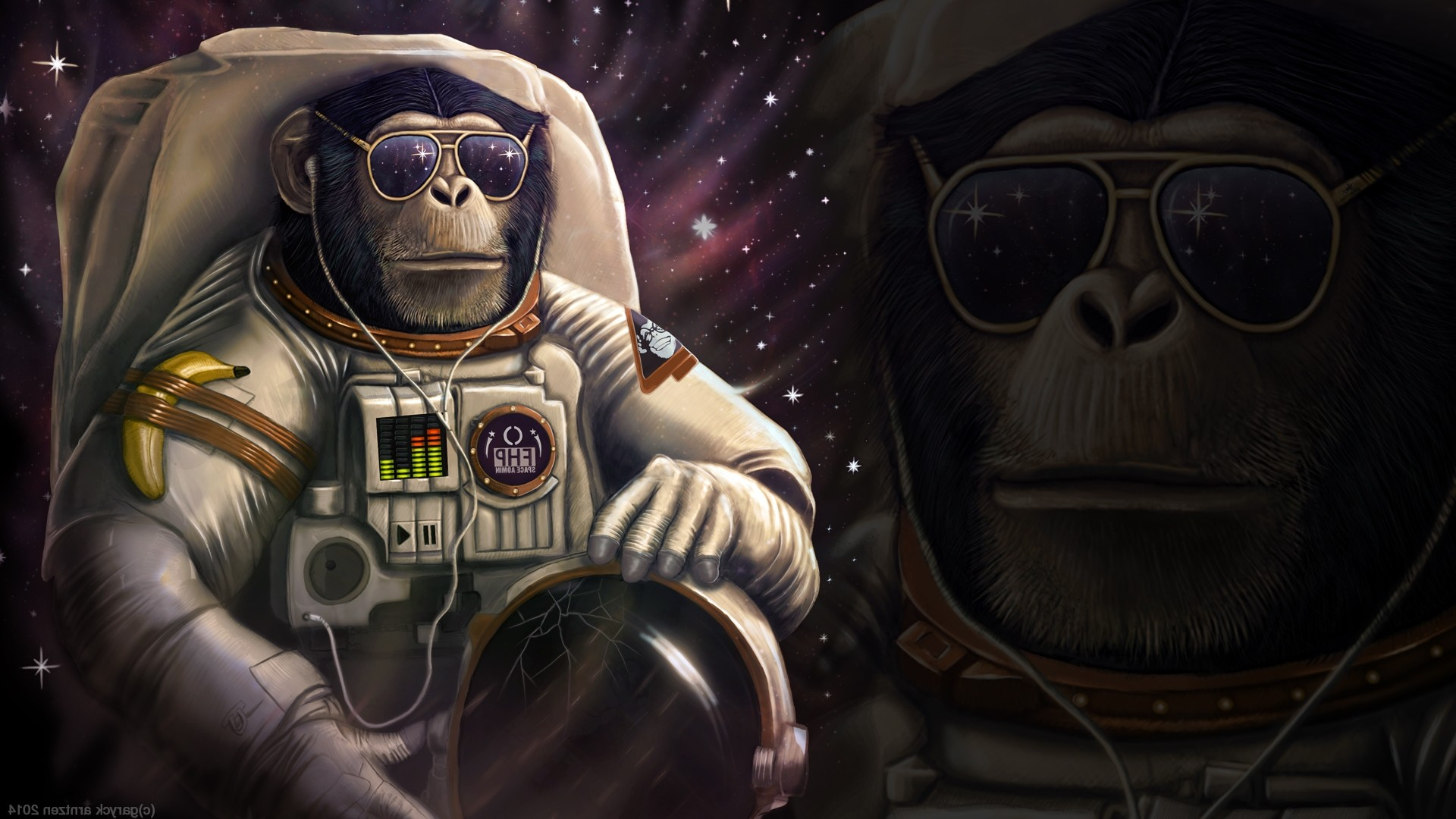 Res: 1920x1080,  Monkey Astronaut Wallpapers HD Desktop and Mobile Backgrounds