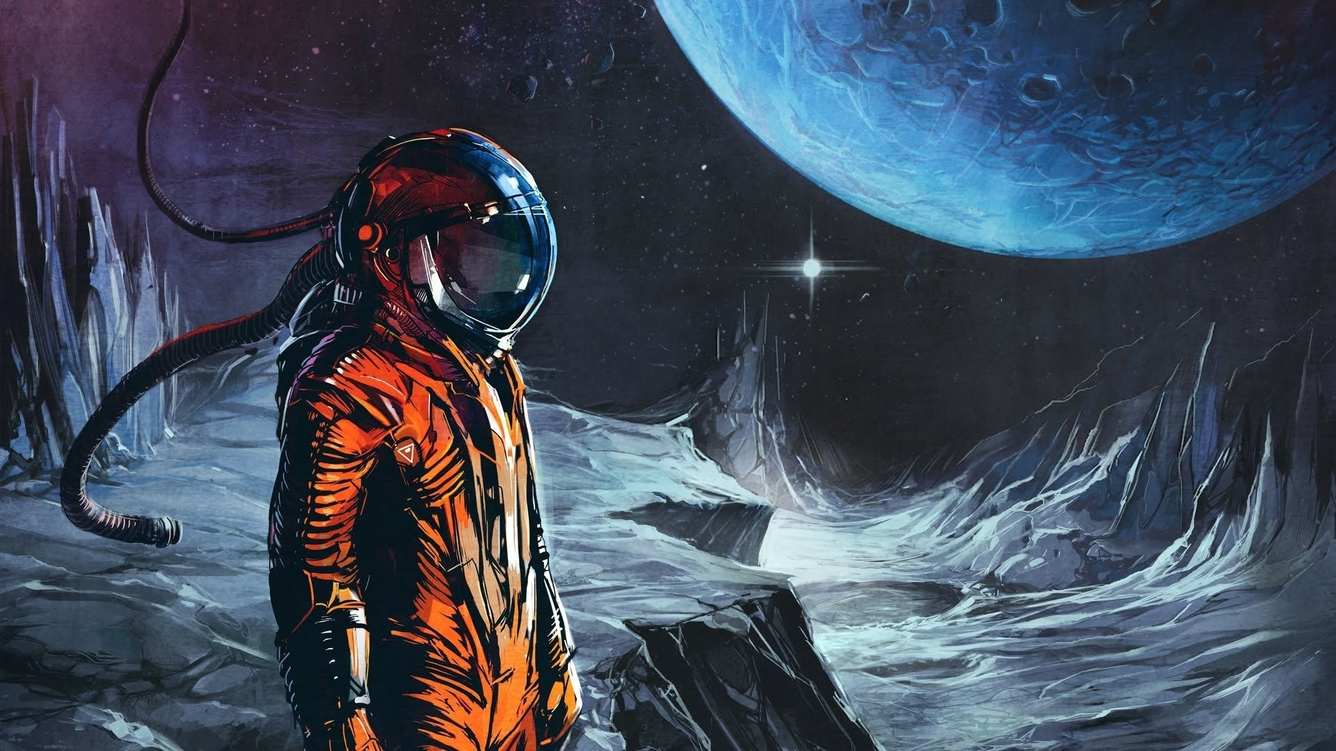 Res: 1920x1080, Res: , astronaut ...