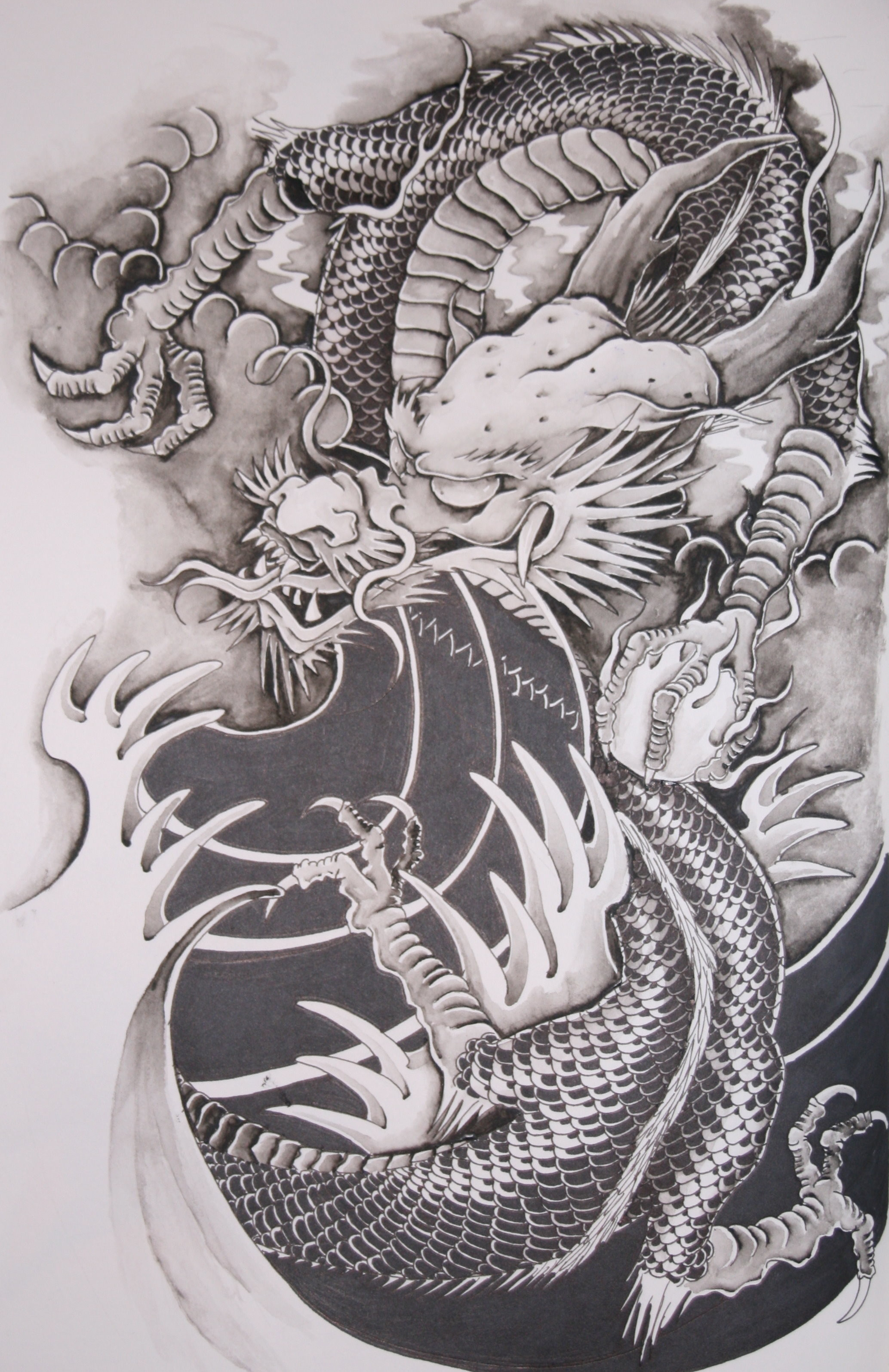 Res: 2067x3189, Chinese Dragon Tattoo wallpaper 82665