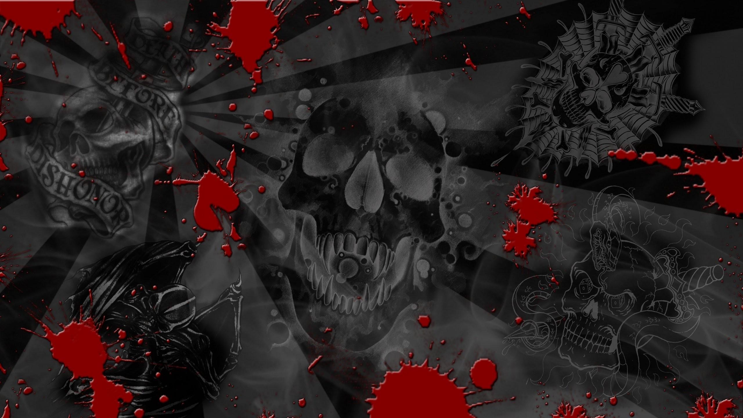 Res: 2560x1440, Skull Tattoo Wallpaper