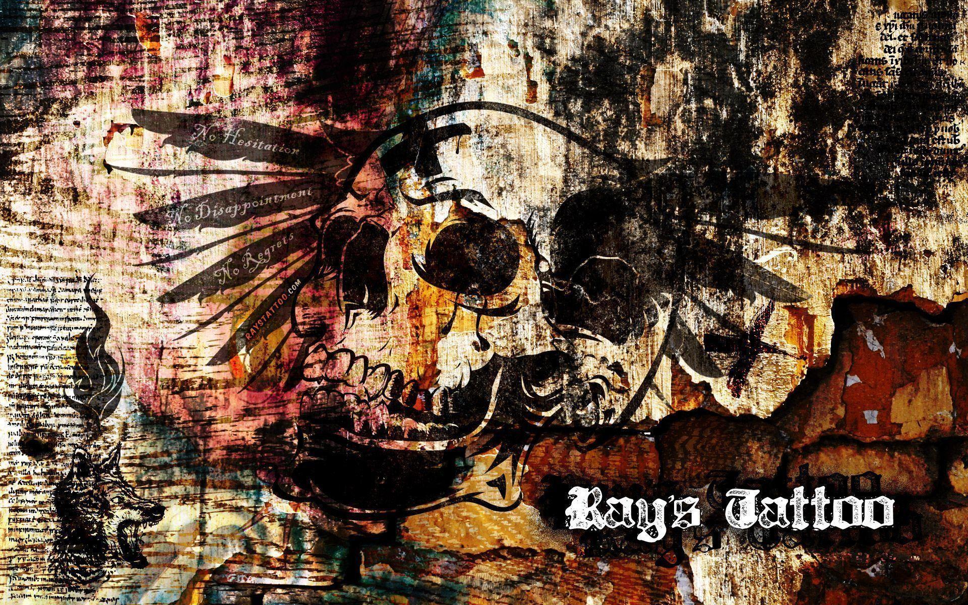 Res: 1920x1200, skull tattoo wallpaper #816076