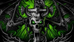 Green Skull wallpapers