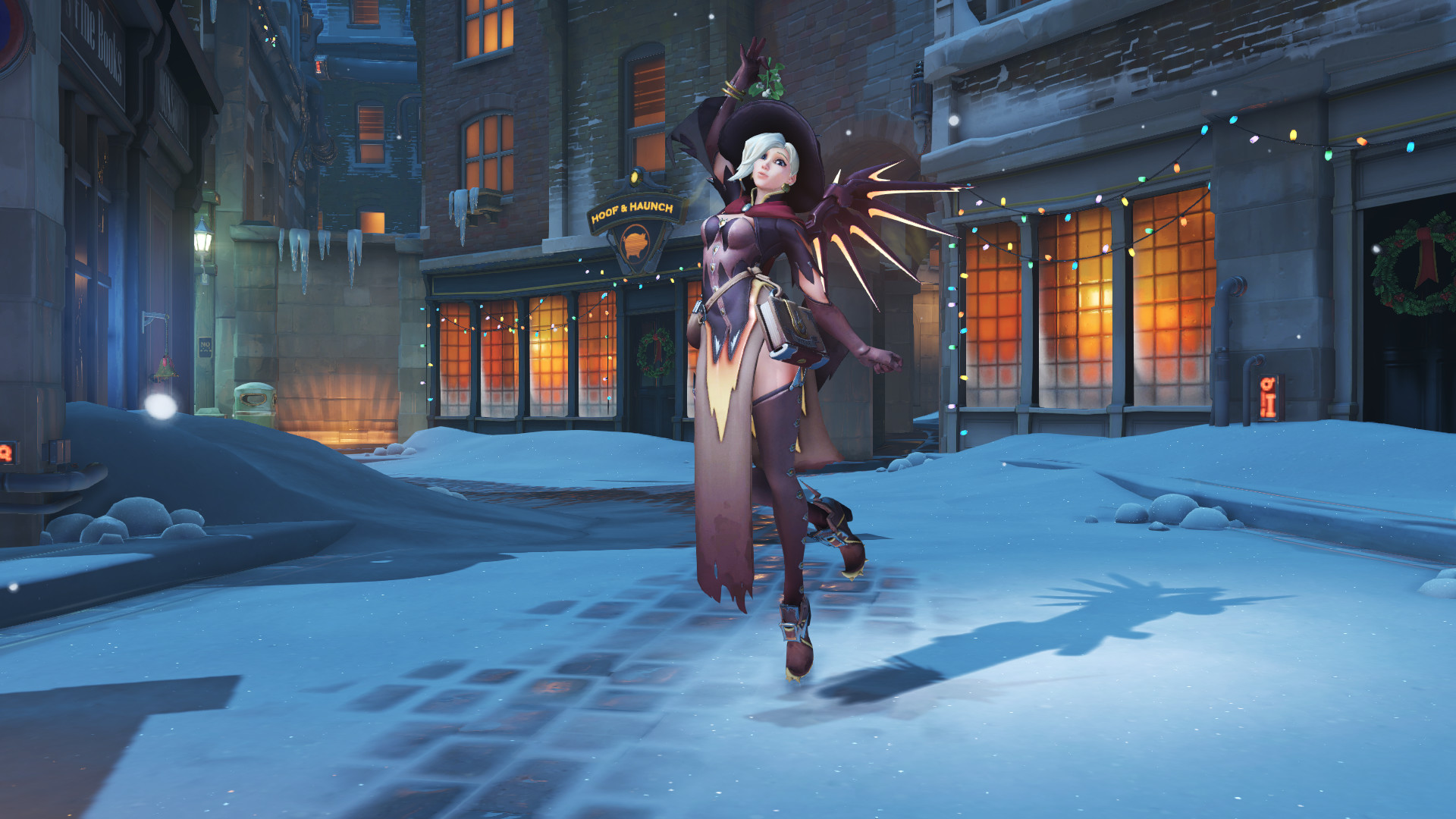 Res: 1920x1080, Witch Mercy Under the Mistletoe