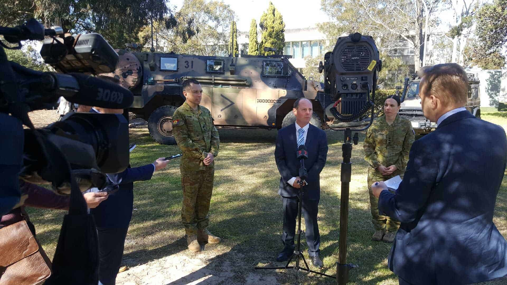 Res: 1920x1080, Speaking at the Randwick Army Barracks with Army representatives on Monday,  20 August 2018 was UAVAIR General Manager, Mr David Mann who presented on  the ...