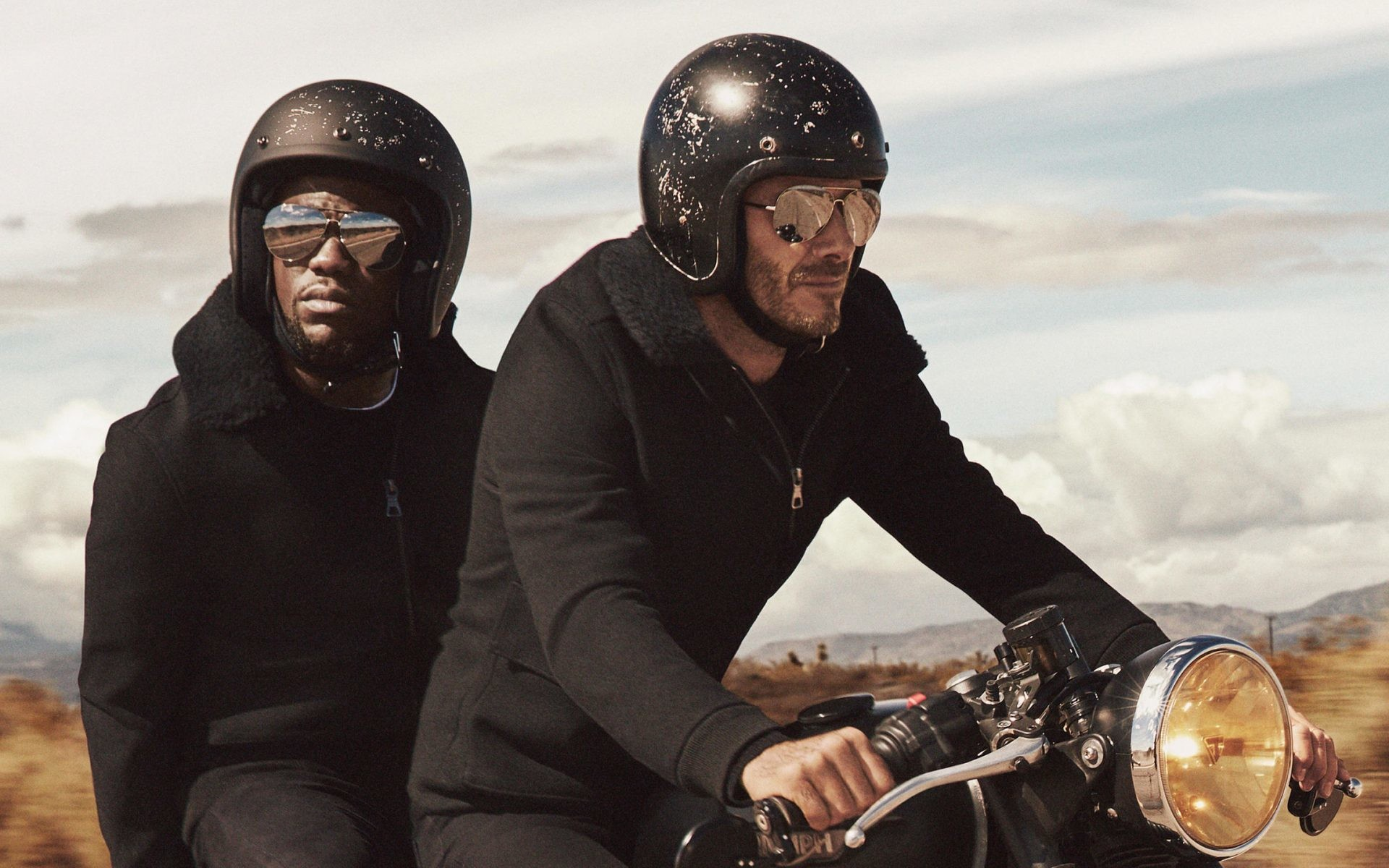 Res: 1920x1200, HD Wallpaper Of Kevin Hart And David Beckham On A Bike In The H&M  Commercial | PaperPull