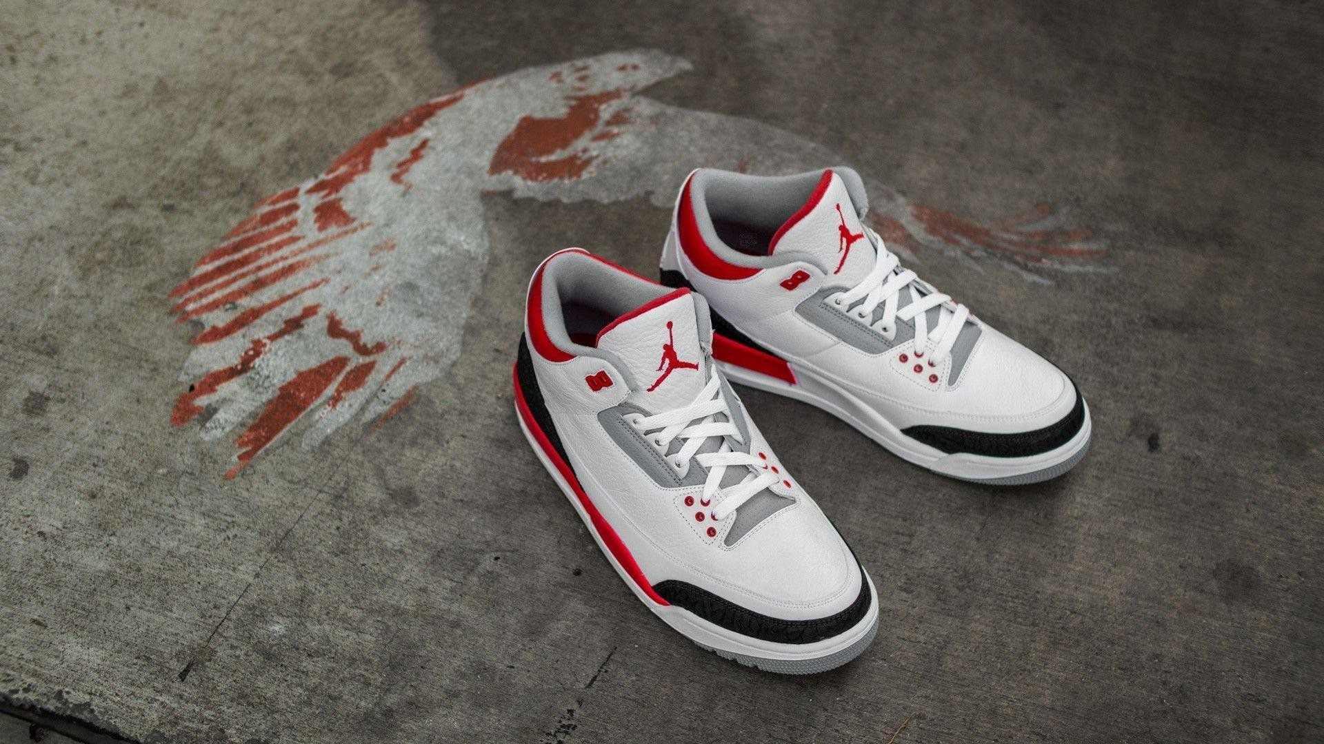 "Res: 1920x1080,  Weekly Wallpaper: Air Jordan 3 ""Fire Red"" ."