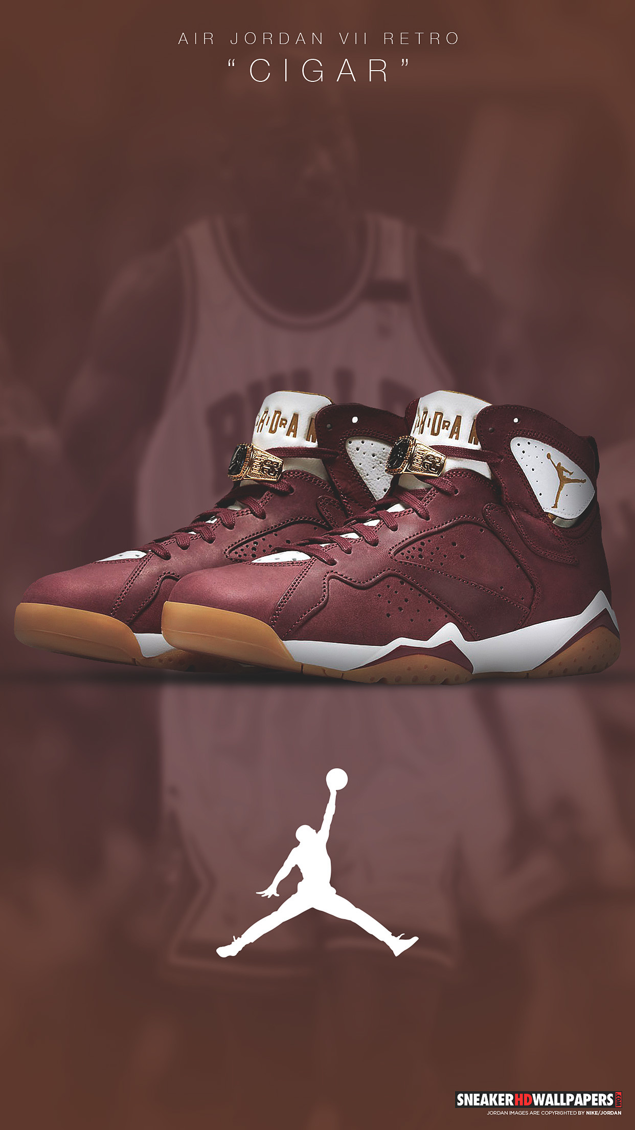 Res: 1242x2208, Download links: Jordan 7 Cigar wallpaper ...