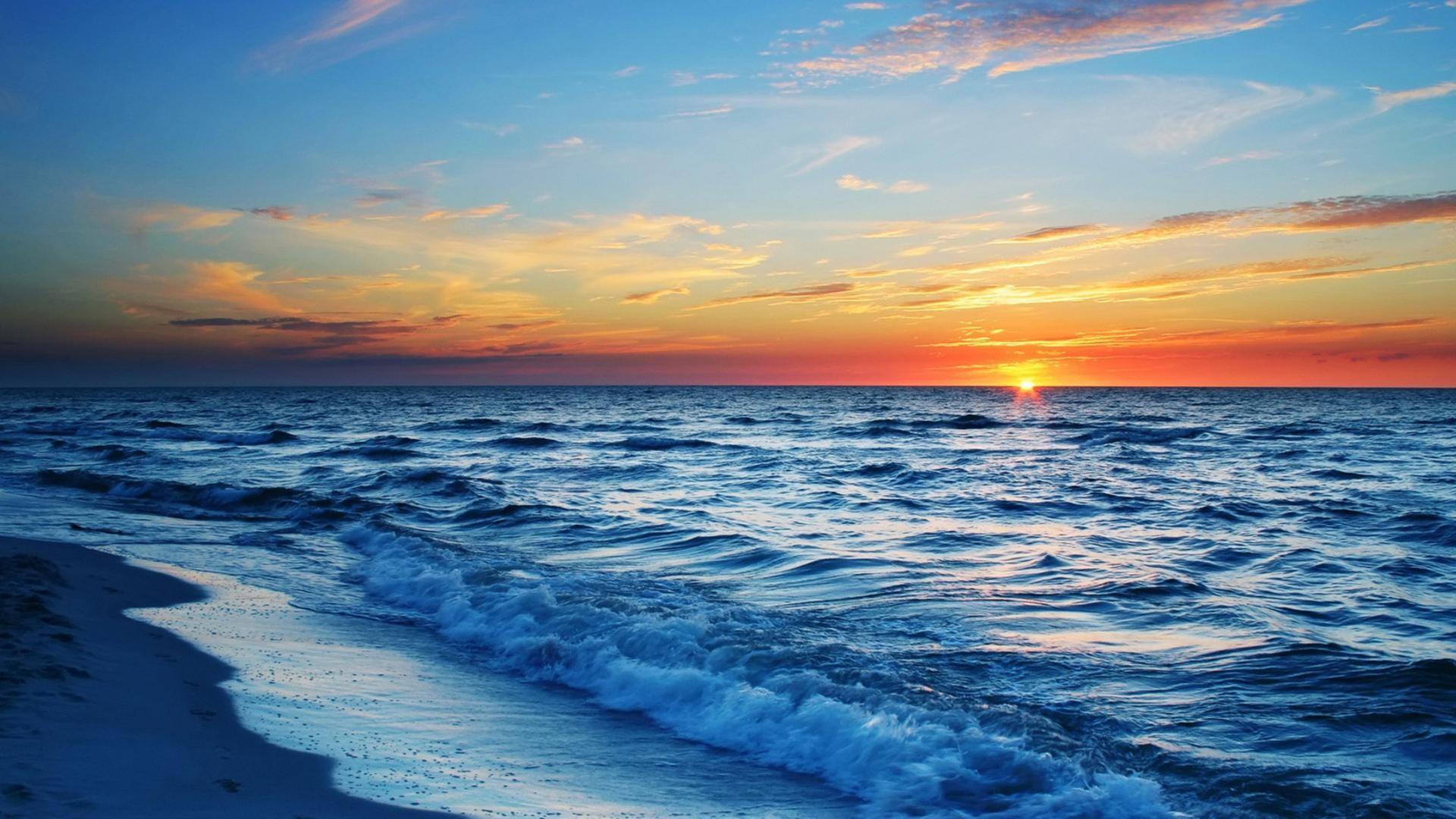 Res: 1920x1080, Ocean Sunset