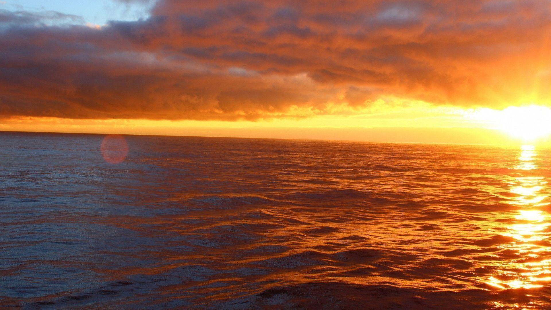 Res: 1920x1080, Ocean Sunset wallpaper - 905176