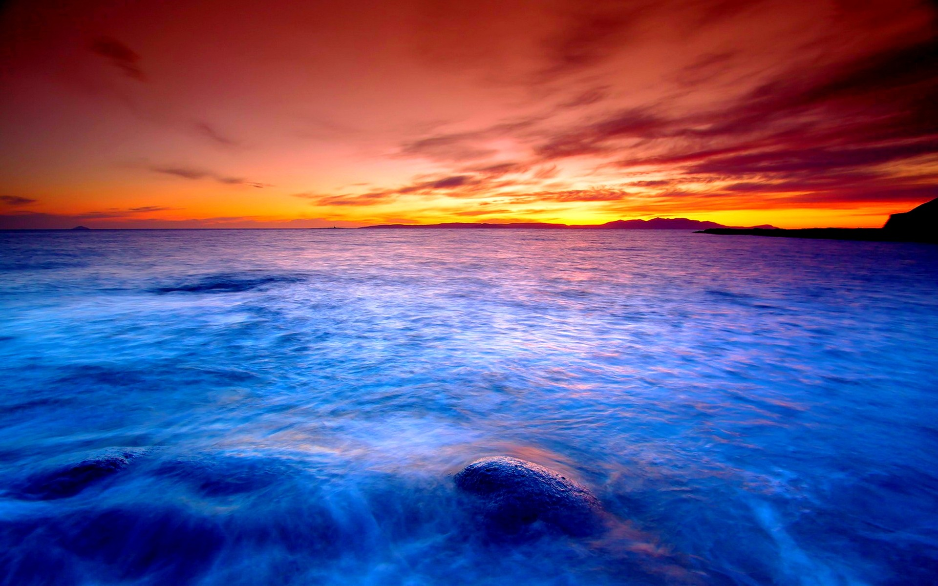 Res: 1920x1200, Gallery For gt Hd Ocean Sunset Wallpaper