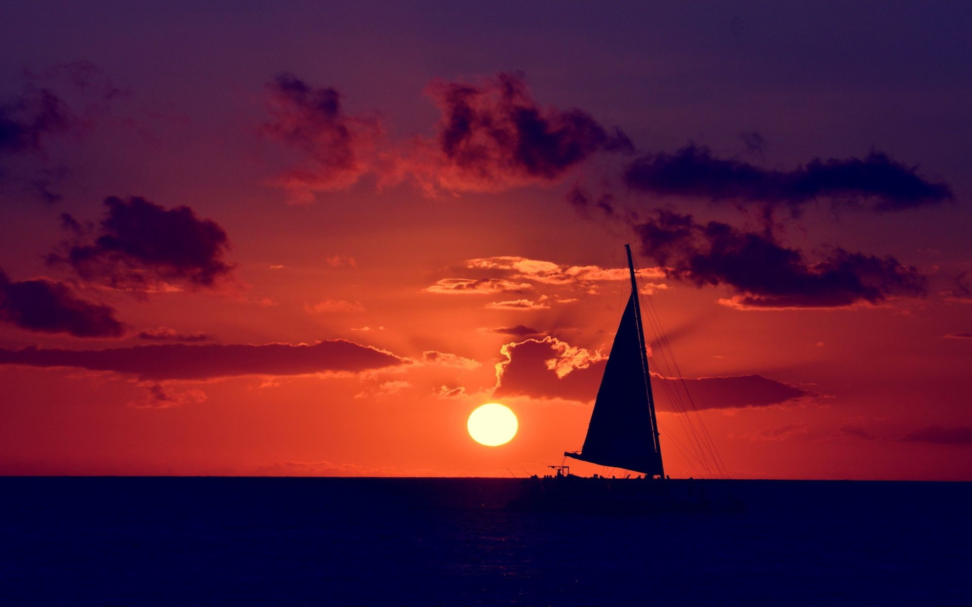 Res: 1920x1200, Sunset with Sailboat On Lake | Sailing ocean sunset Wallpapers Pictures  Photos Images