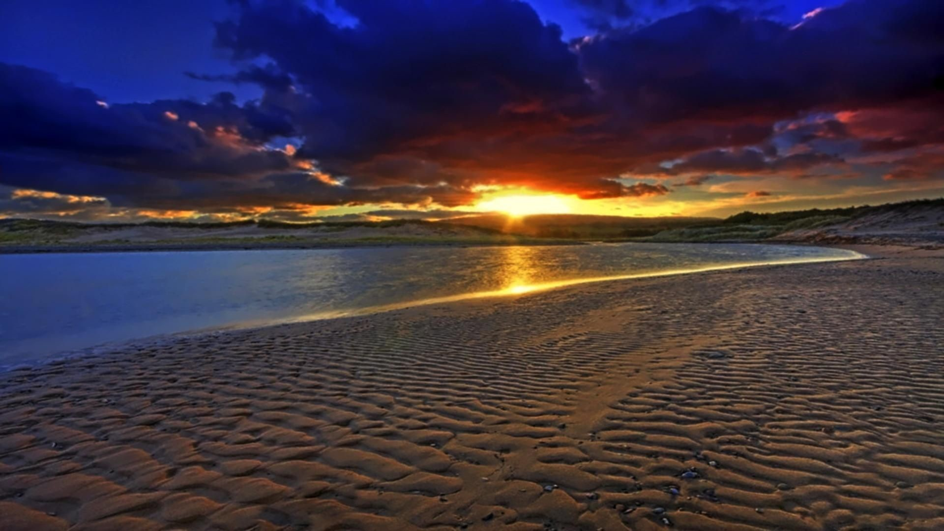 Res: 1920x1080, Res: , Beautiful Ocean Sunsets Hd Background Wallpaper 16 ...
