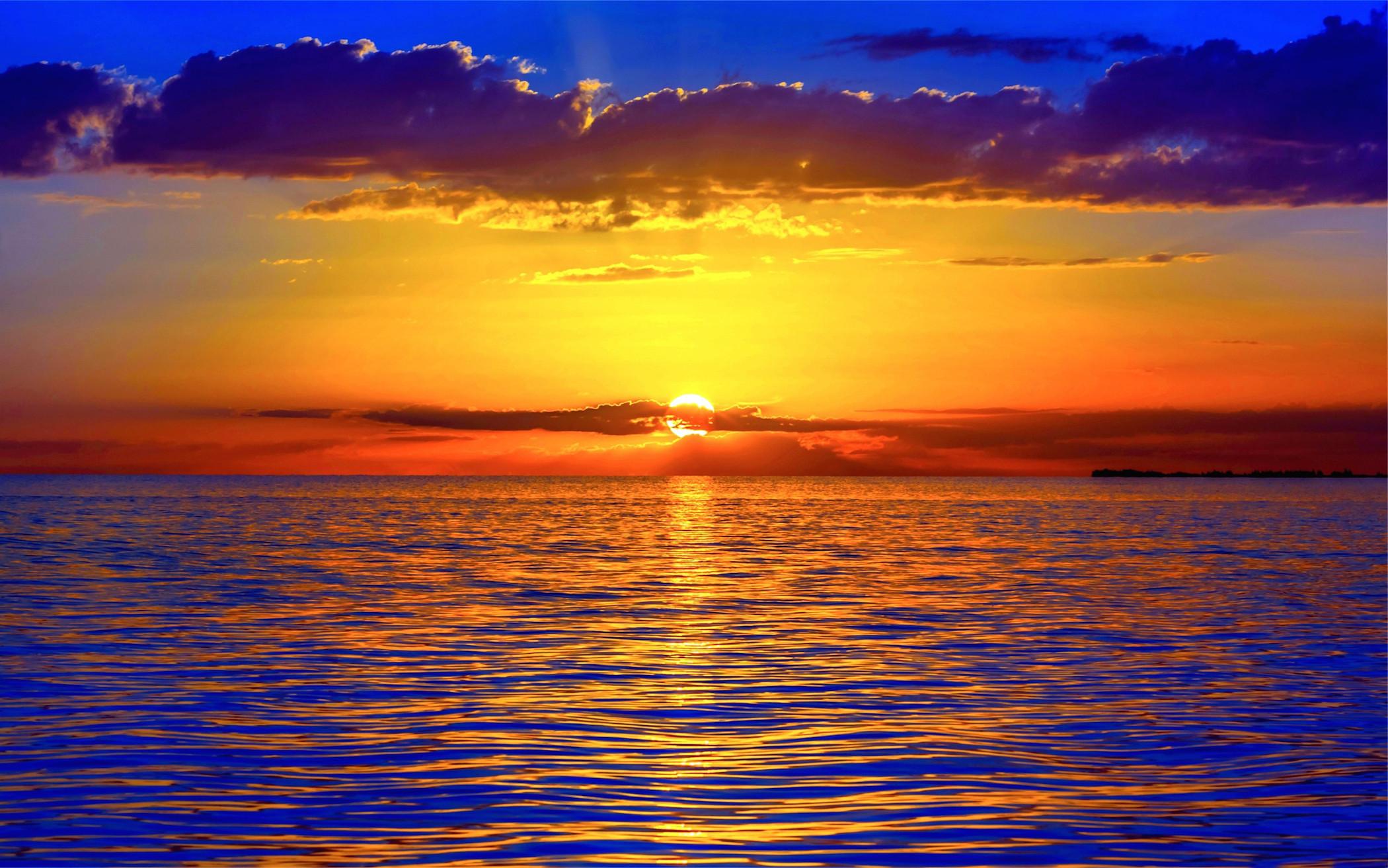 Res: 2100x1313, Ocean Sunset Wallpaper