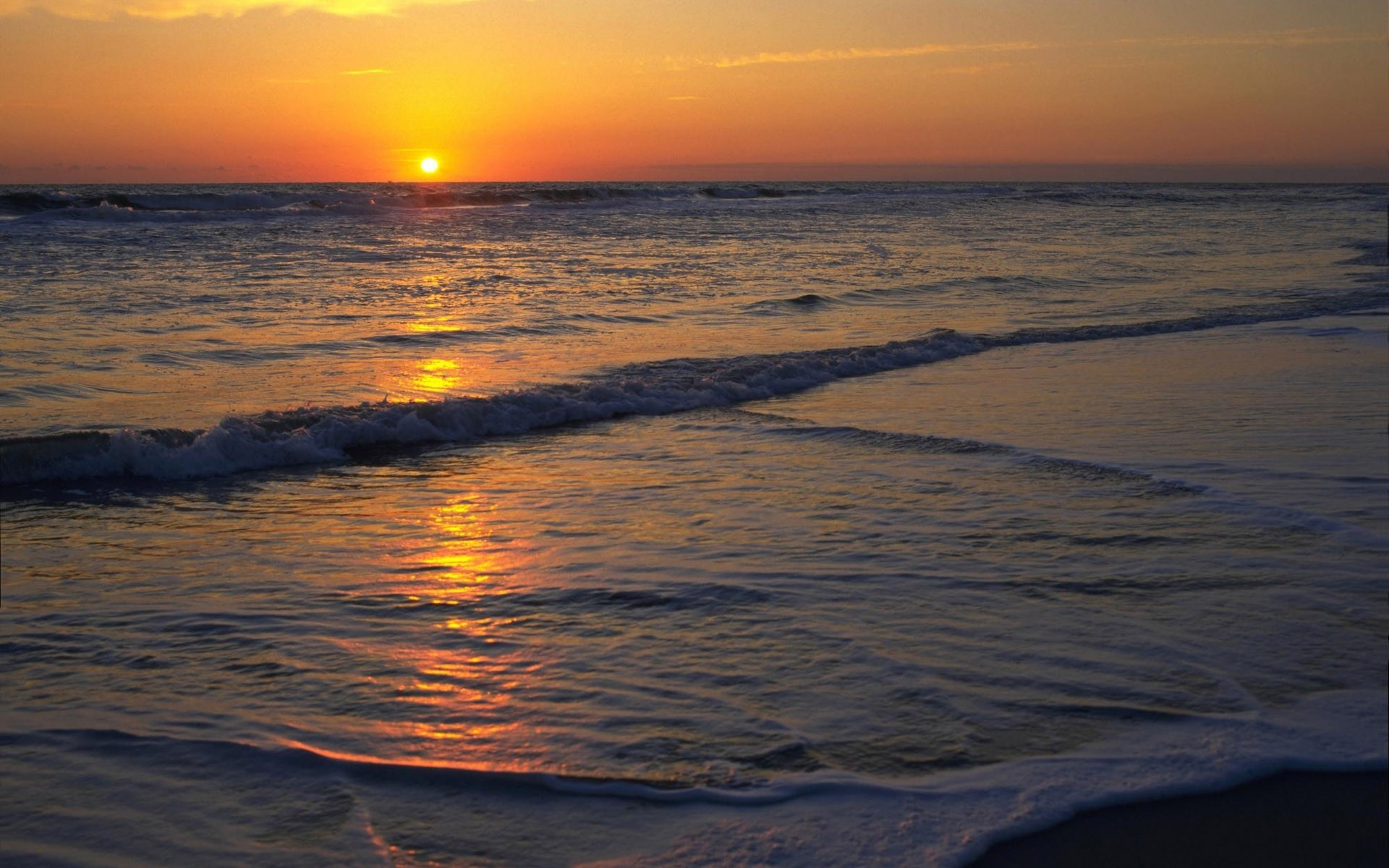 Res: 1920x1200, Bild: Wunderbare Ocean Sunset wallpapers and stock photos. Â«