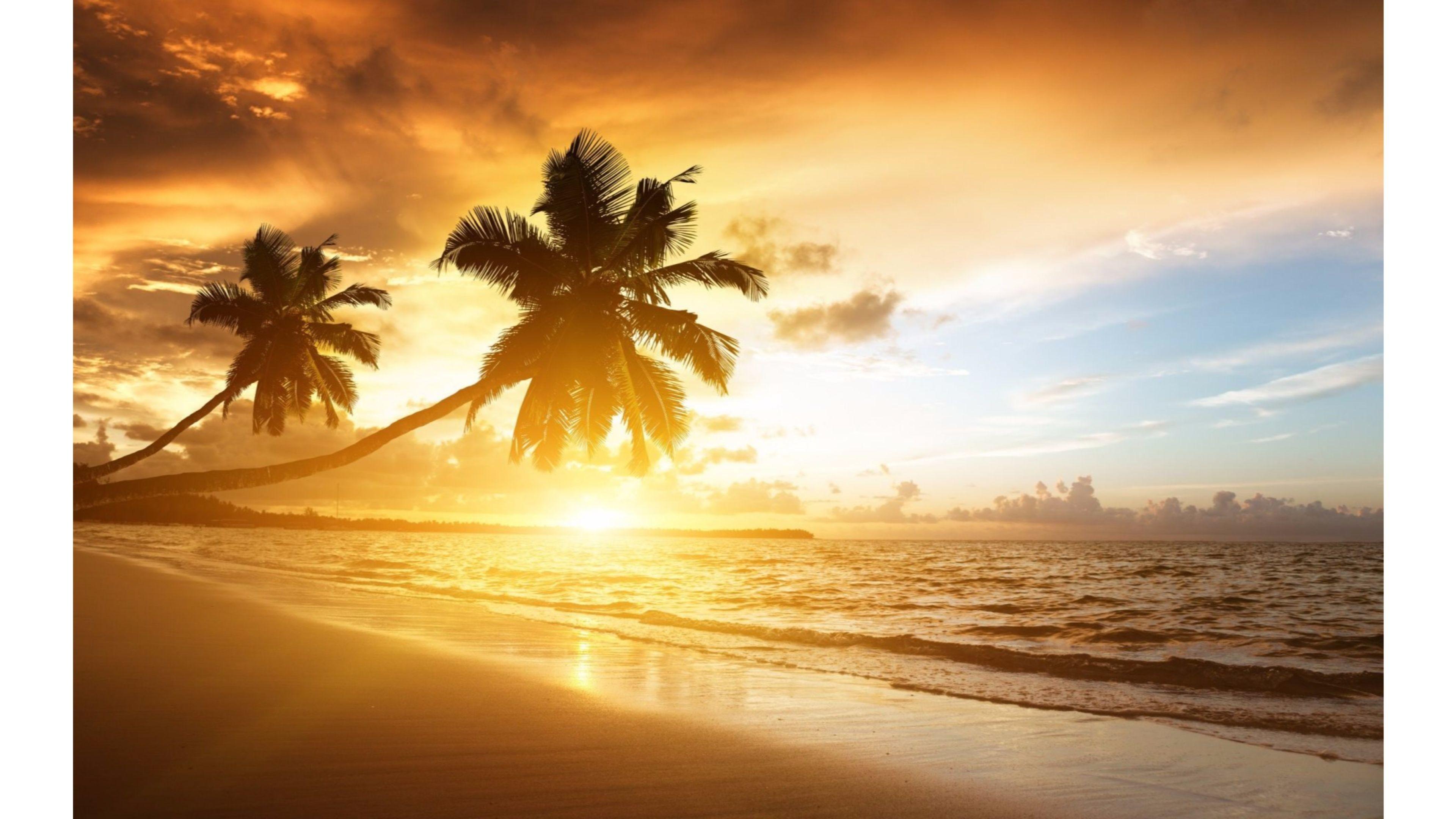 Res: 3840x2160, 2880x1800 Ocean sunset wallpaper