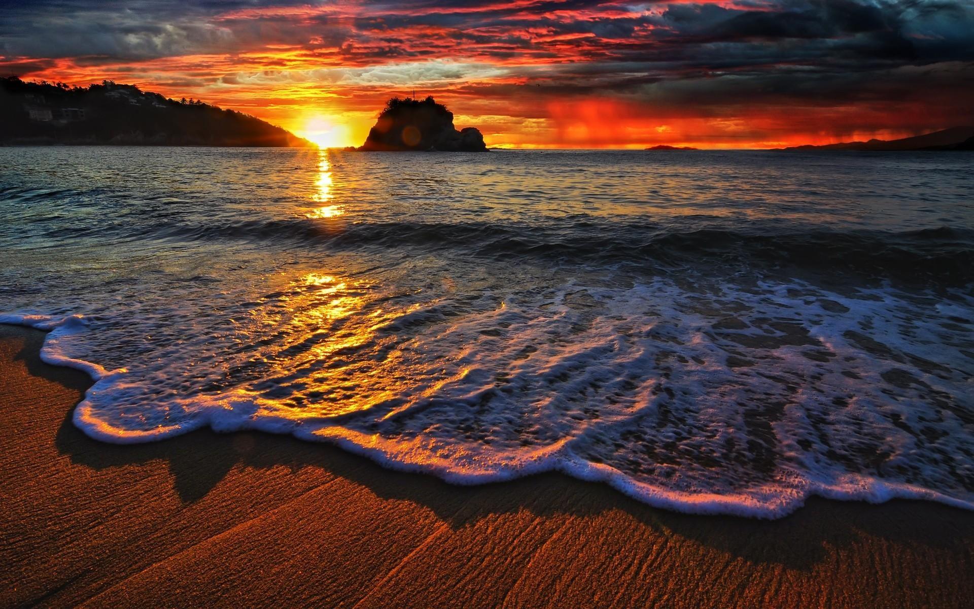 Res: 1920x1200, ocean sunset wallpaper #862663