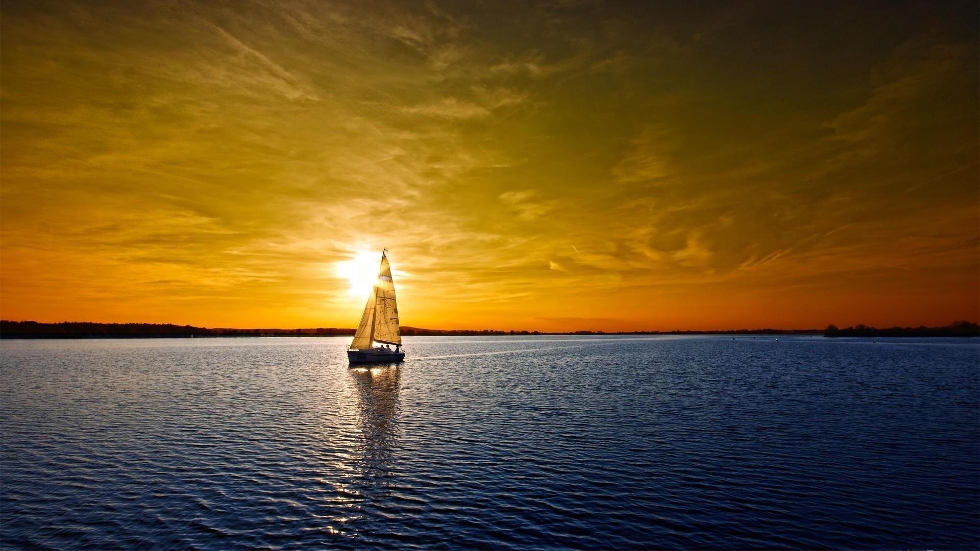 Res: 1920x1080, Beautiful ocean sunset wallpaper