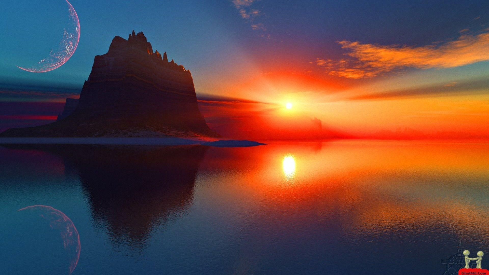 Res: 1920x1080, Ocean Sunsets Wallpaper 1920×1080