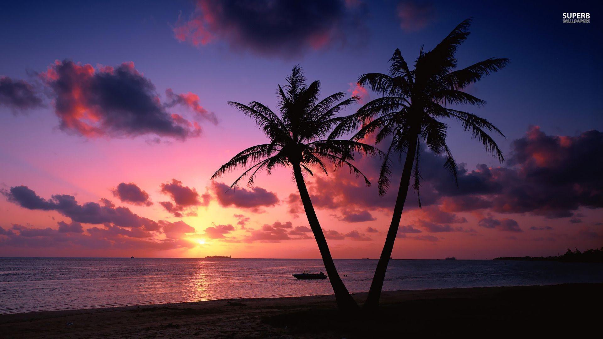 Res: 1920x1080, Ocean Sunset HD wallpaper | 1366x768 | #6760