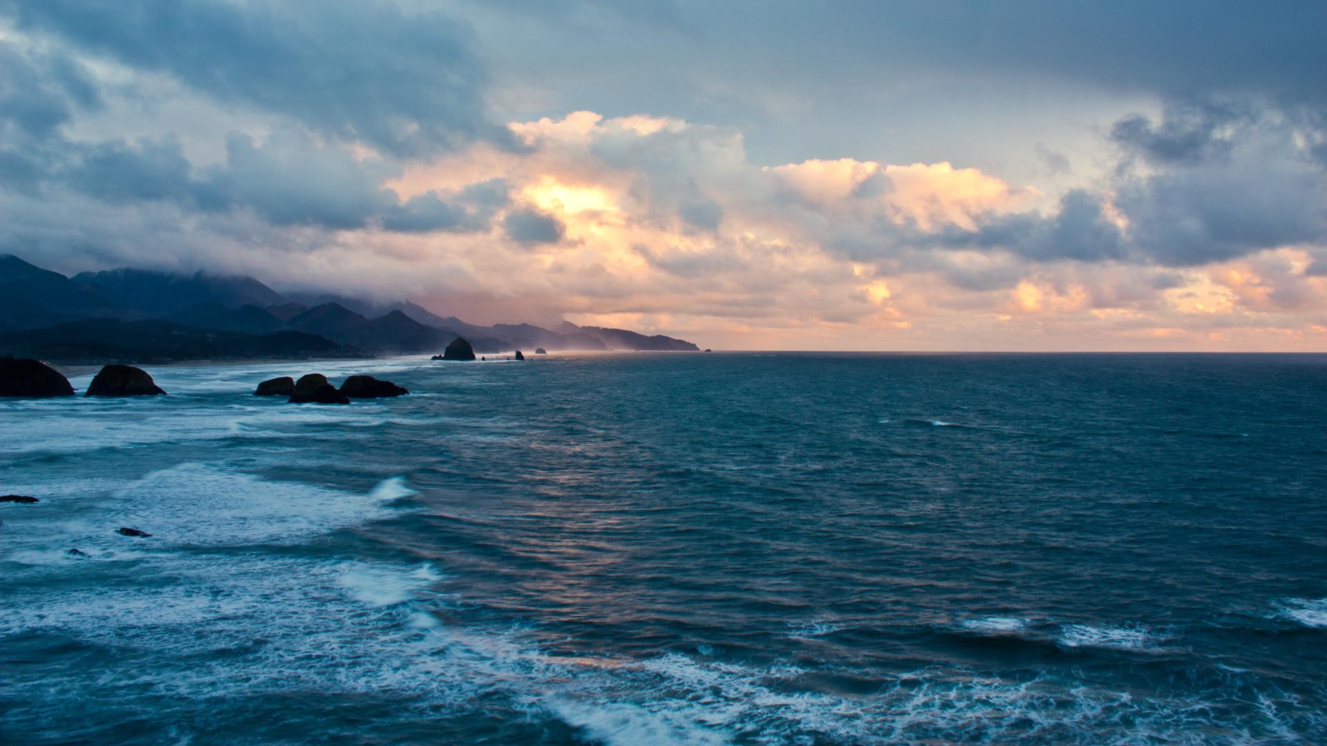 Res: 1920x1080, 1920x1200 OCEAN SUNSET WALLPAPER - (#116851) - HD Wallpapers -  [wallpapersinhq .