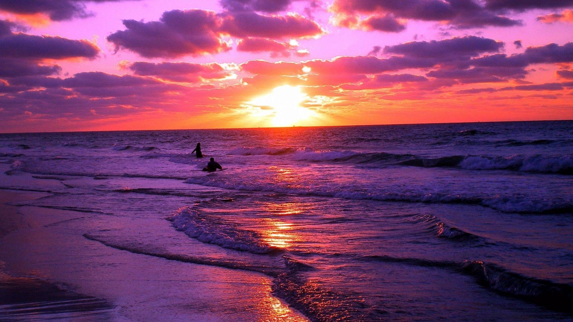 """Res: 1920x1080, 1920x1200 Wooden pillars standing tall towards the ocean sunset wallpaper"""">"""