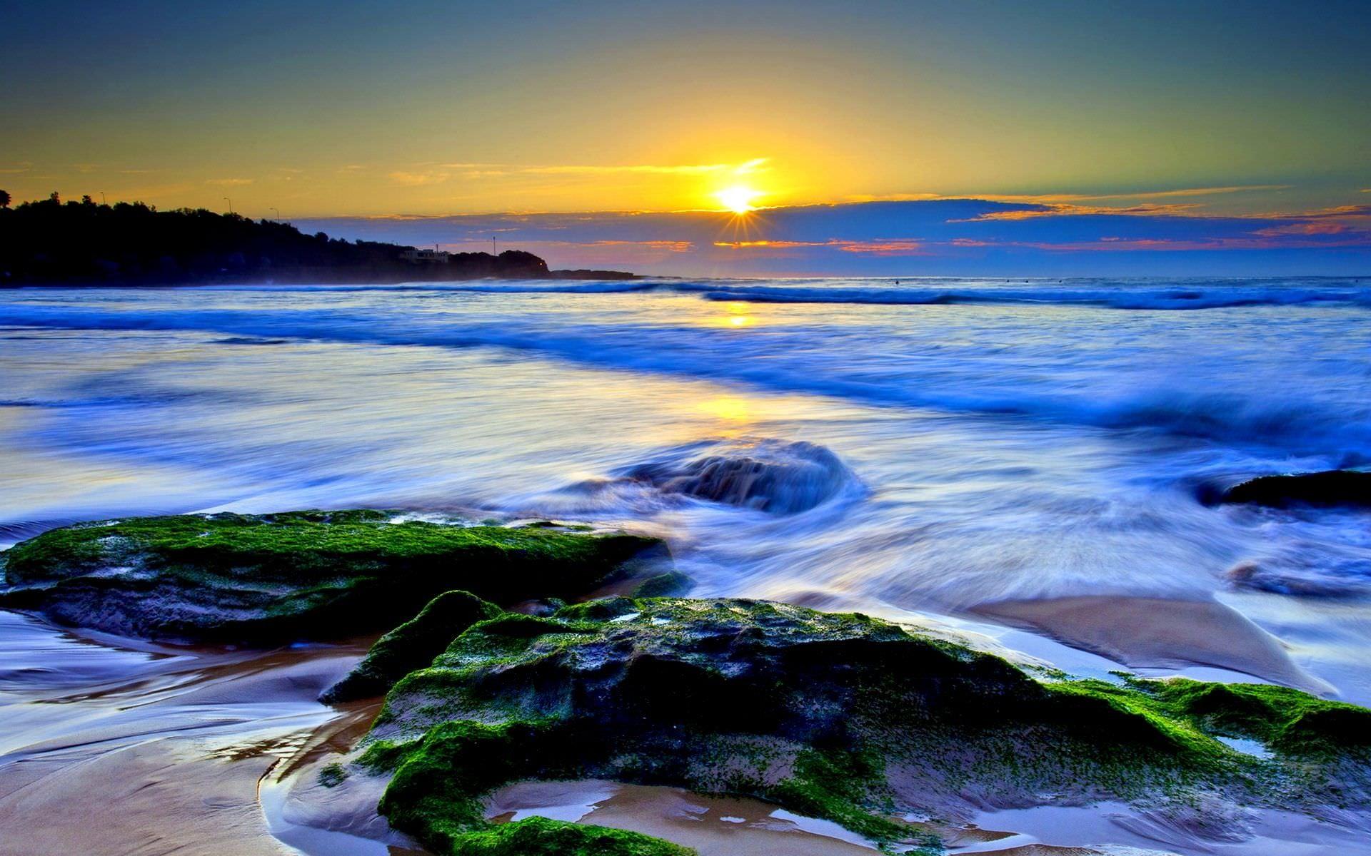Res: 1920x1200, most-beautiful-ocean-sunset-widescreen-high-definition-wallpaper