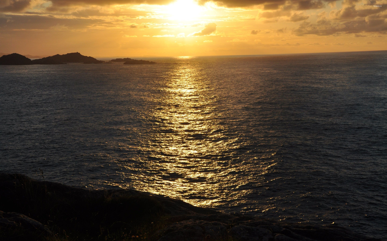 Res: 2880x1800, Ocean sunset wallpaper