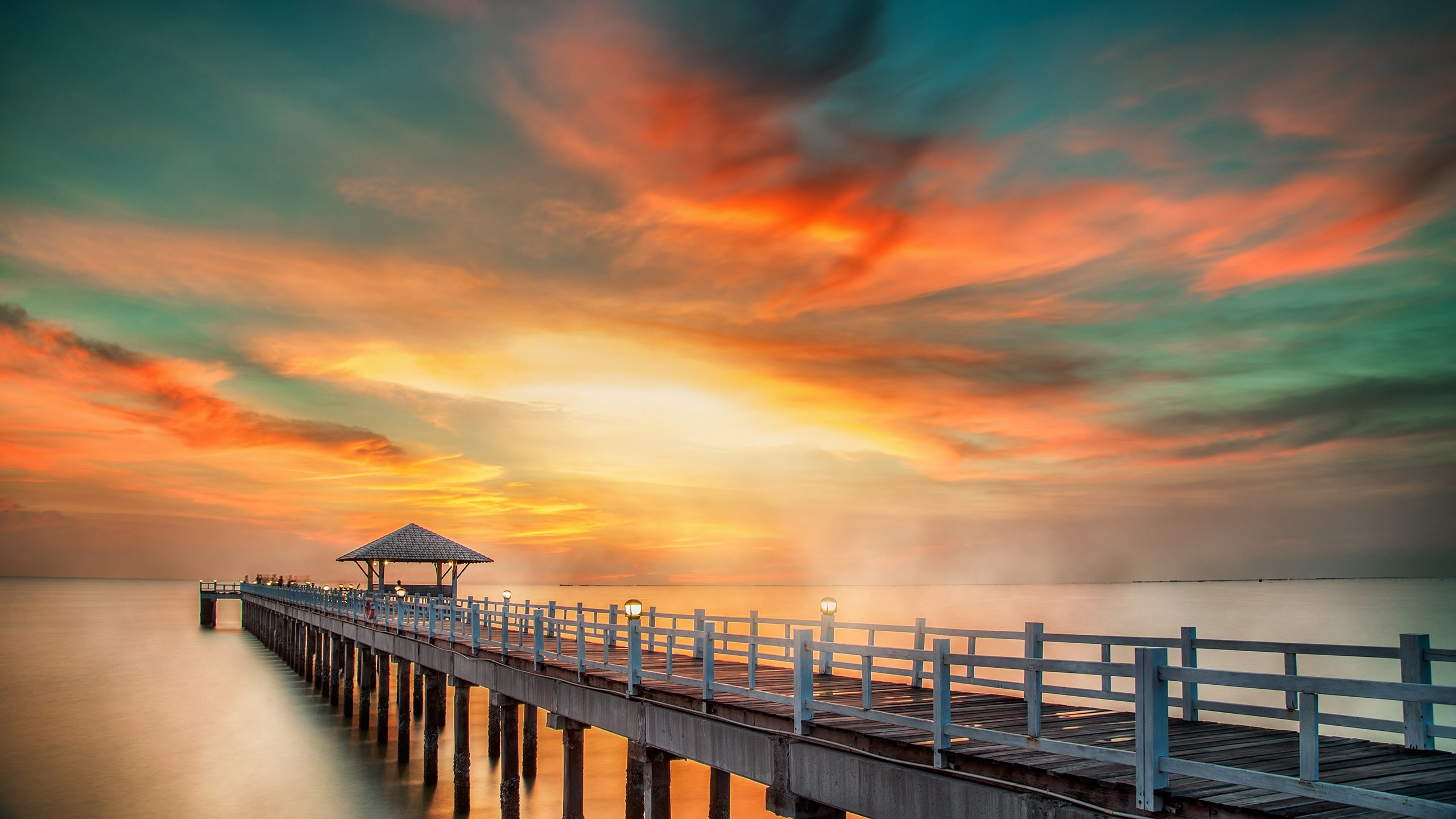 Res: 2560x1440, ocean sunset wallpaper #821973