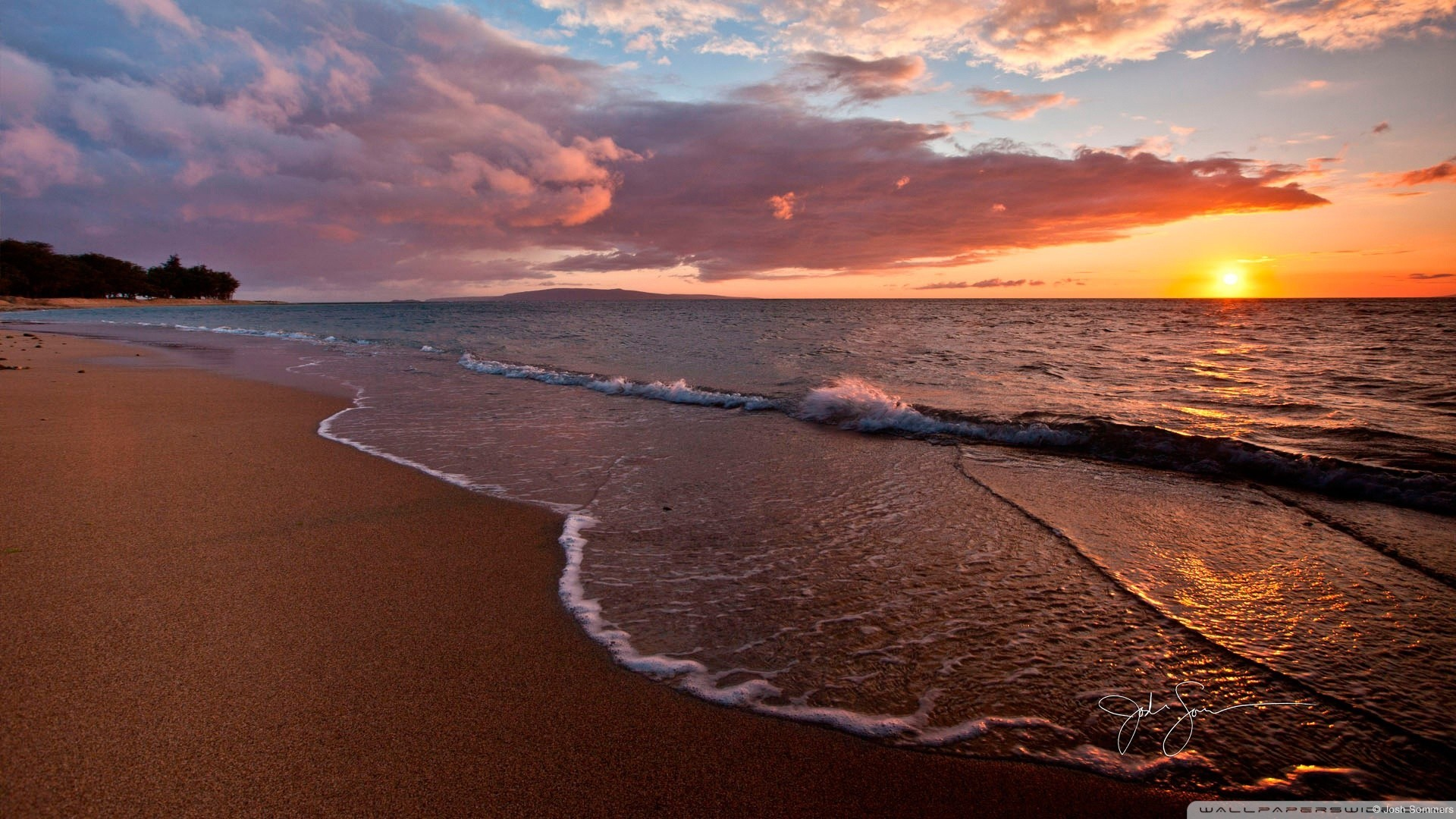 Res: 1920x1080,  Beautiful Ocean Sunsets Hd Background Wallpaper 16 HD Wallpapers