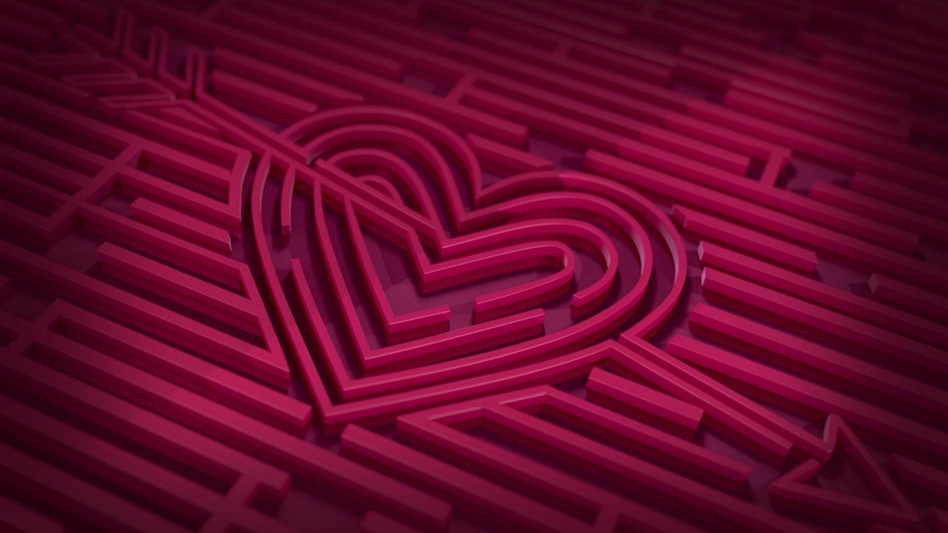 Res: 1920x1080, Cool love heart HD wallpaper.