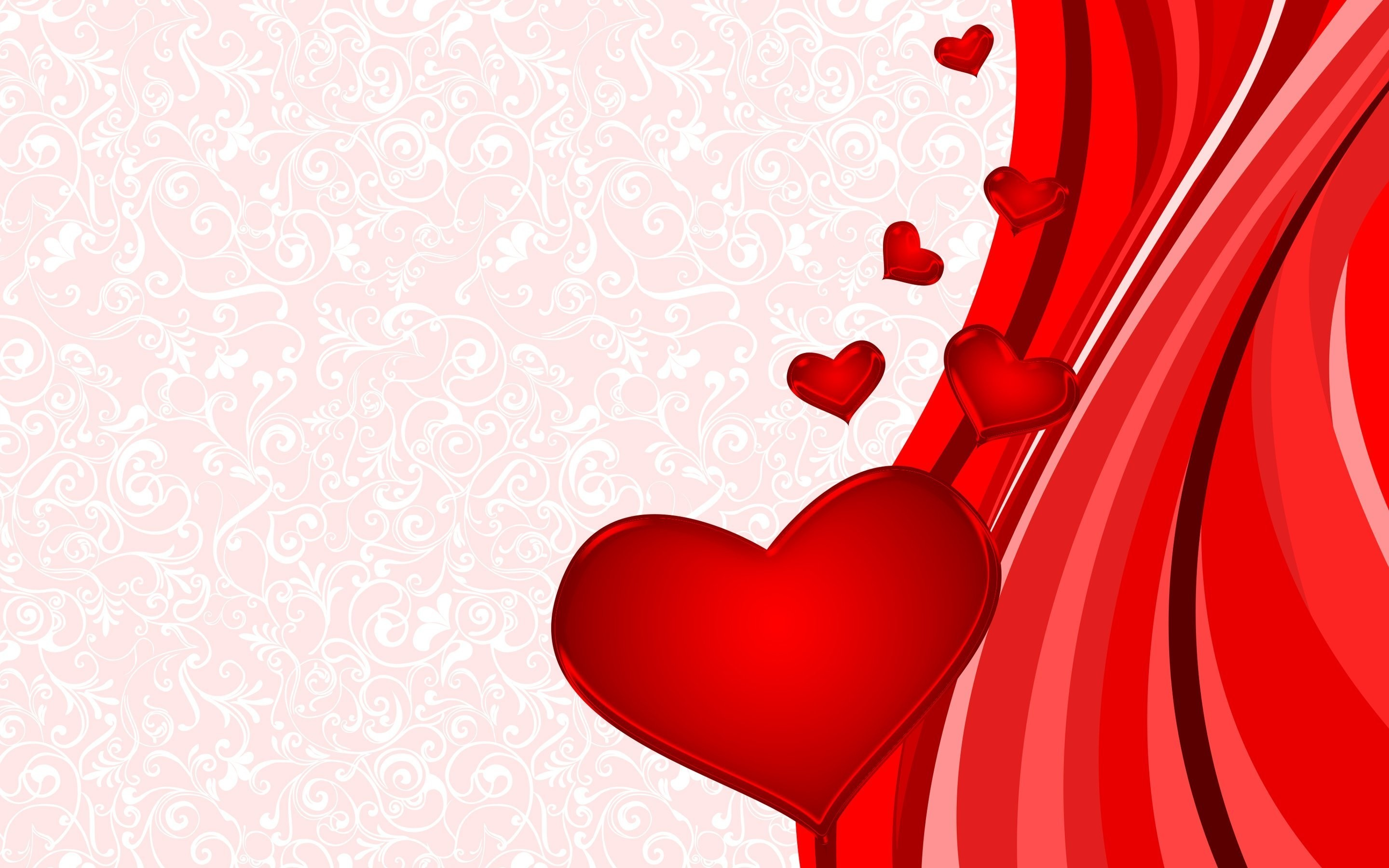 Res: 2880x1800,  Cute Red Love Heart .