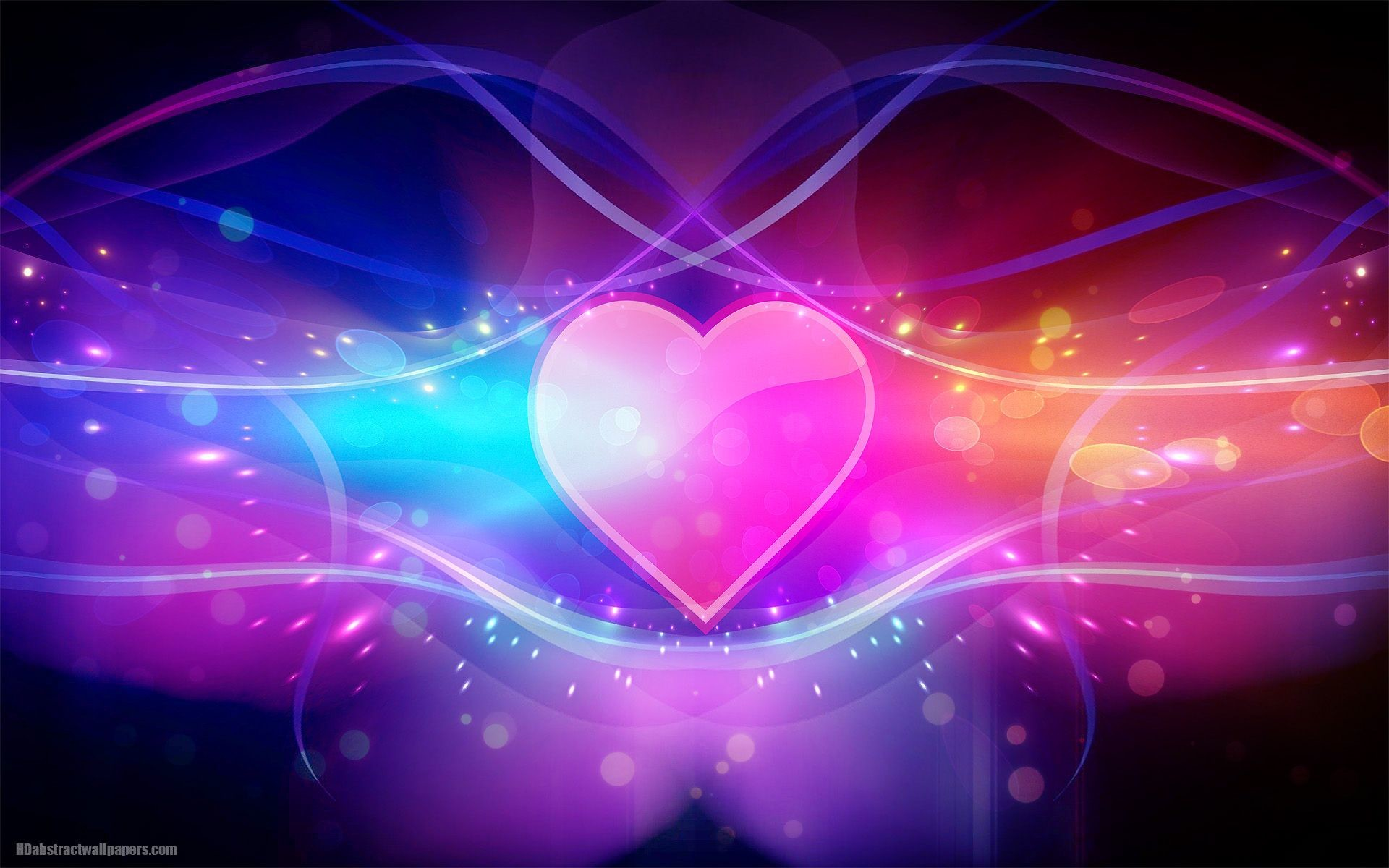Res: 1920x1200, Pretty Heart Abstract Wallpaper 1080p #O85 Love Backgrounds, Background Hd  Wallpaper, Laptop Wallpaper