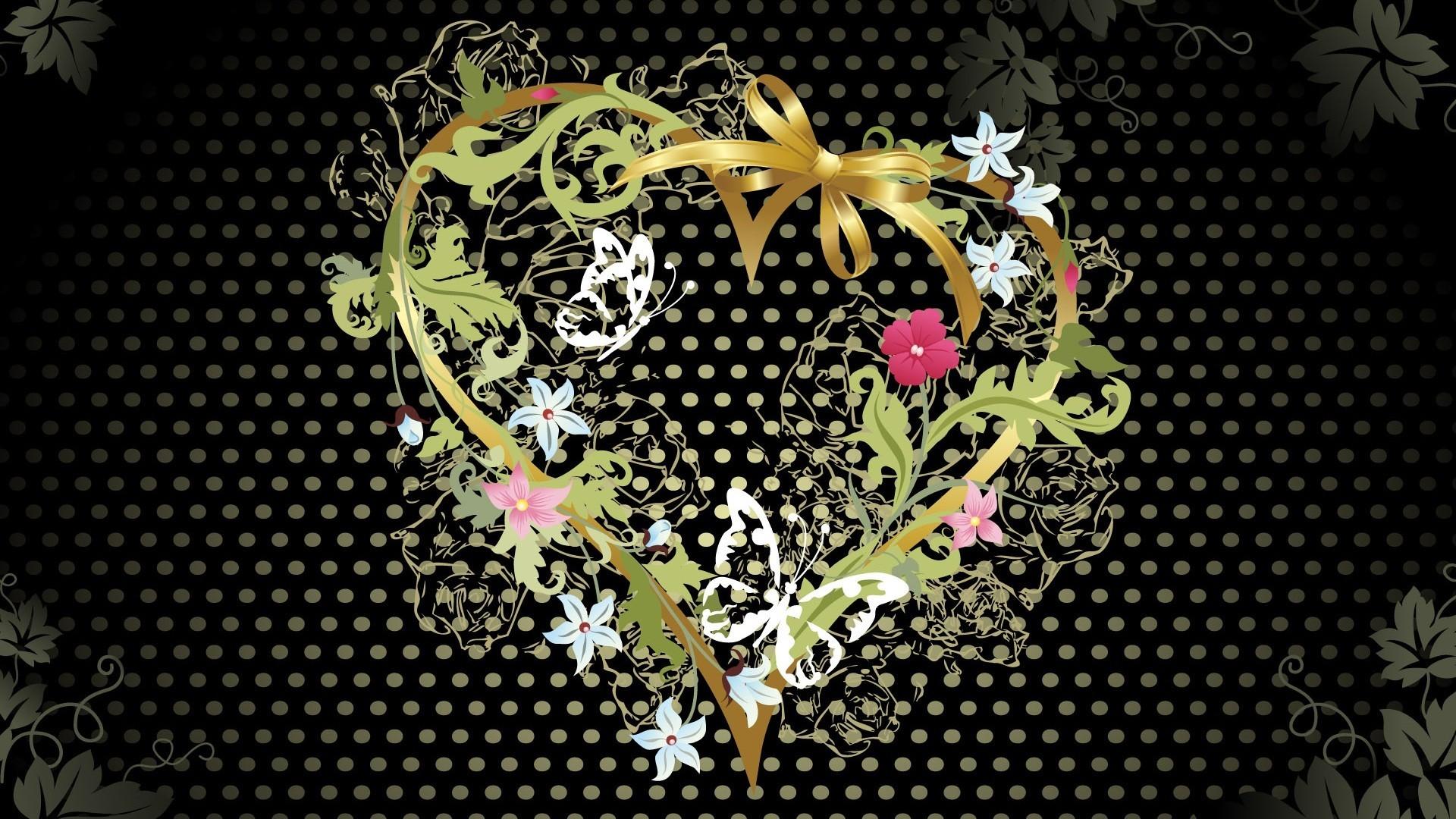 Res: 1920x1080, Love Heart Vector Hd Wallpaper