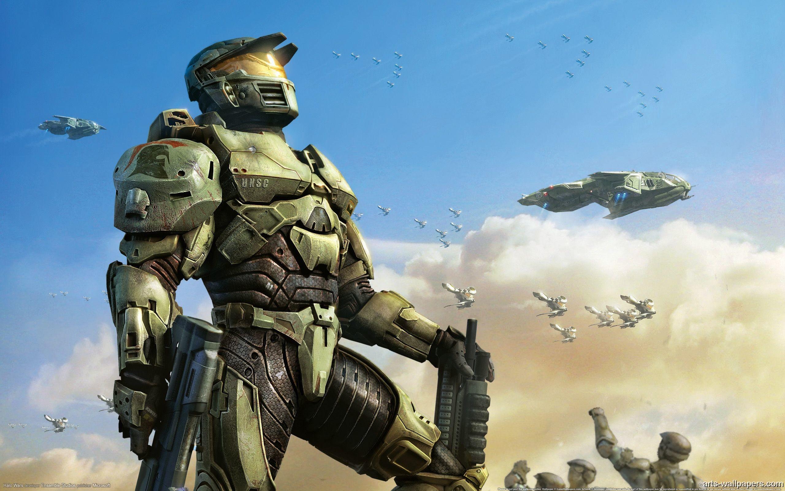 Res: 2560x1600, Halo Wars UNSC Spartan