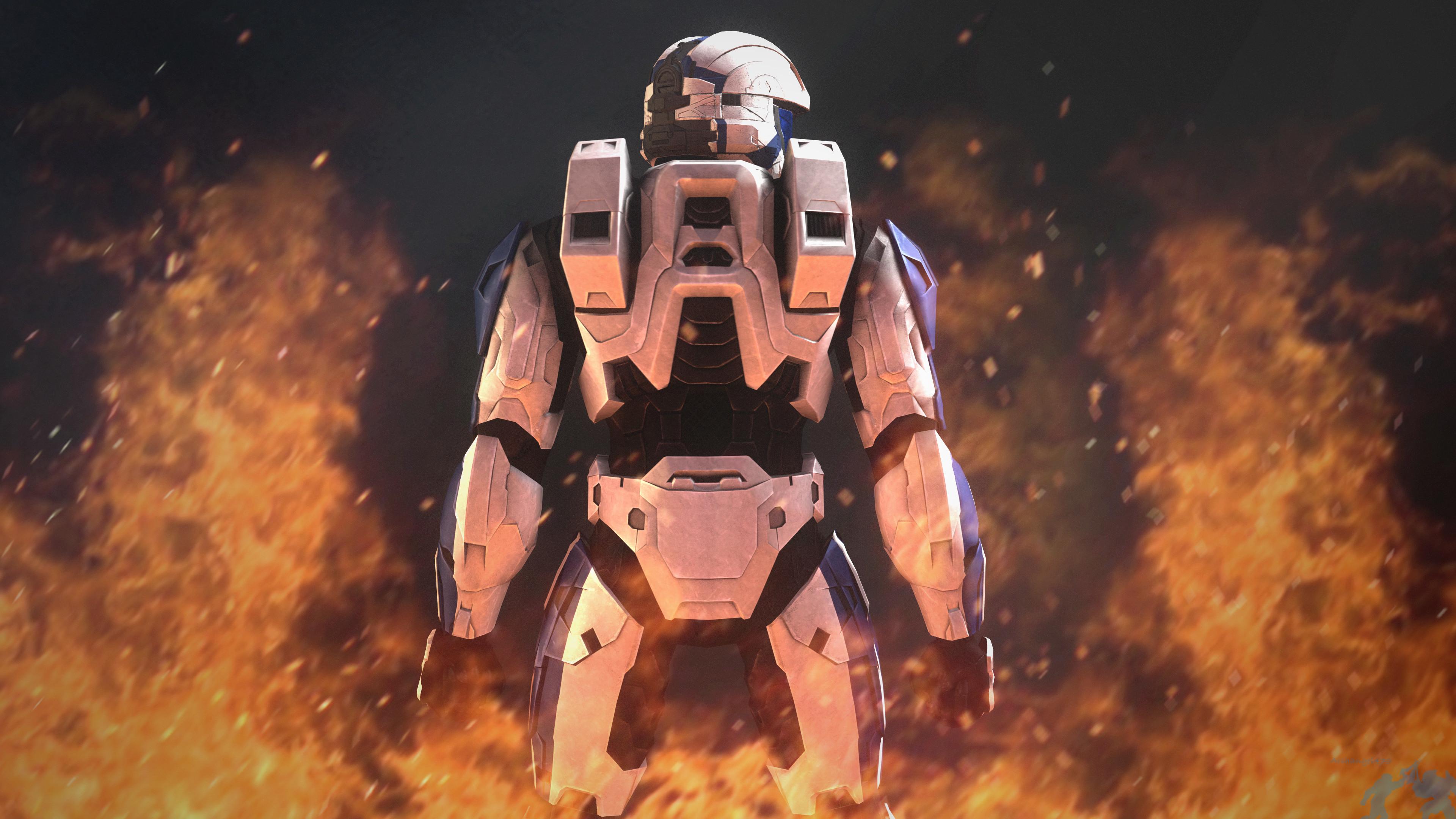 Res: 3840x2160, Halo Spartan Concept Art