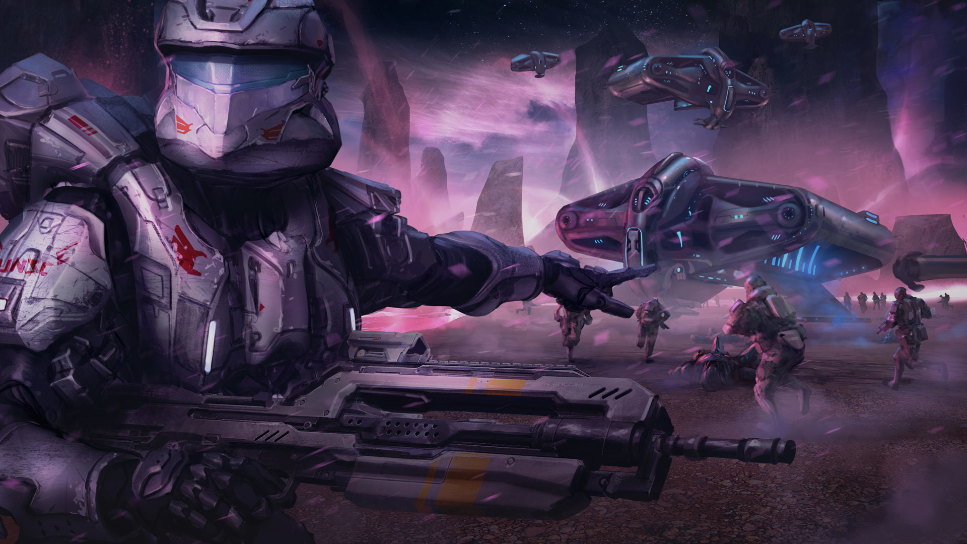 Res: 1920x1080, Halo: Spartan Assault HD Wallpaper 6 - 1920 X 1080
