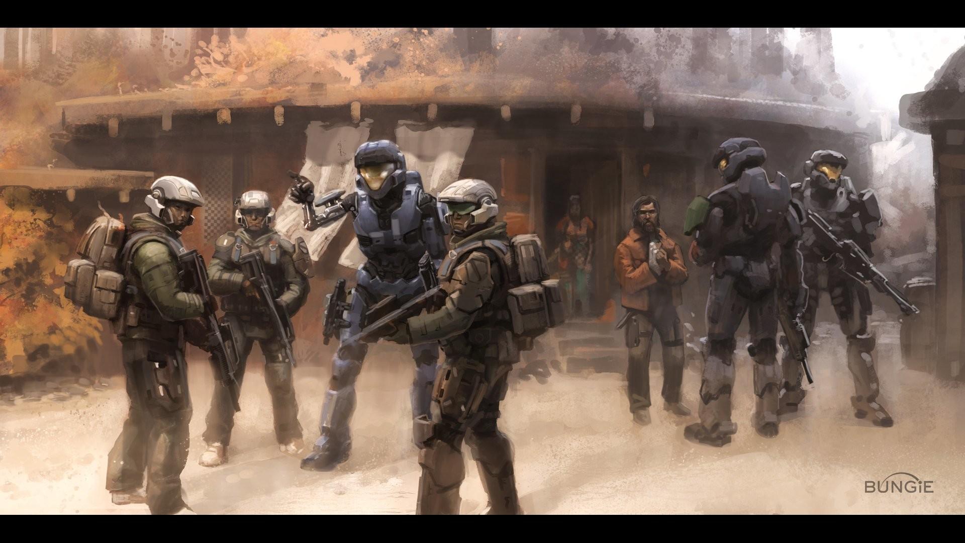 Res: 1920x1080, Spartan Halo Kat Halo Reach concept art Bungie wallpaper |  |  253859 | WallpaperUP