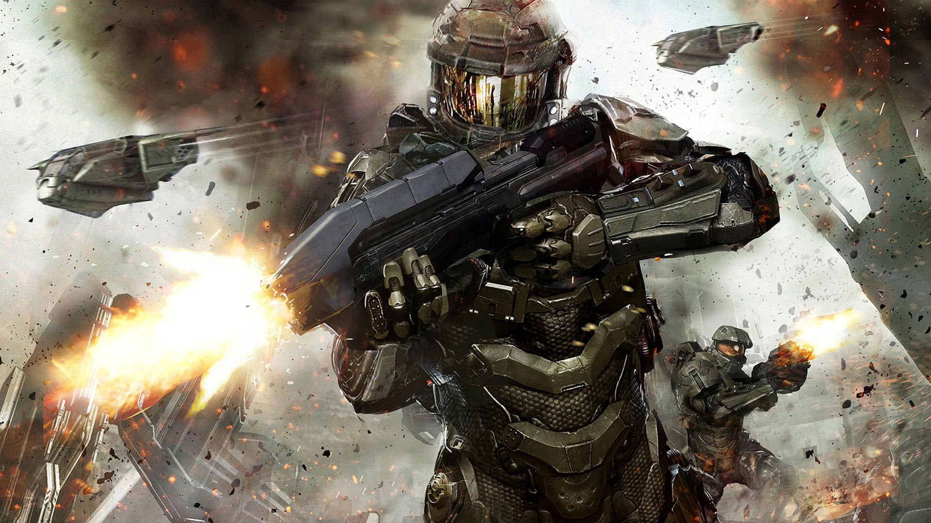 Res: 1920x1080, game character digital wallpaper, Halo, Halo 4, video games, Spartans HD  wallpaper