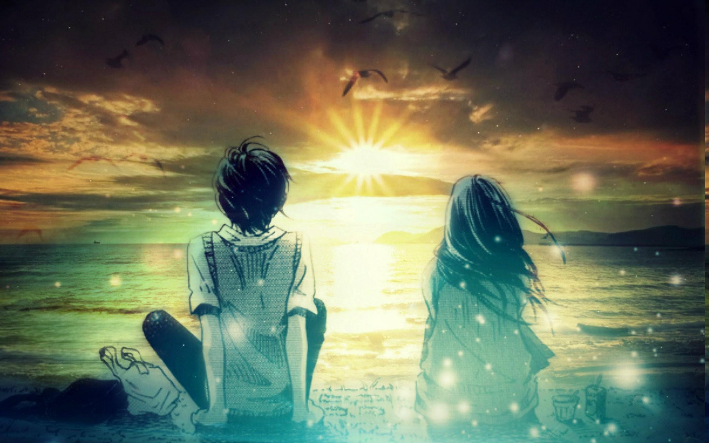 Res: 2284x1428, anime fantasy art digital art photo manipulation artwork sunset wallpaper  and background