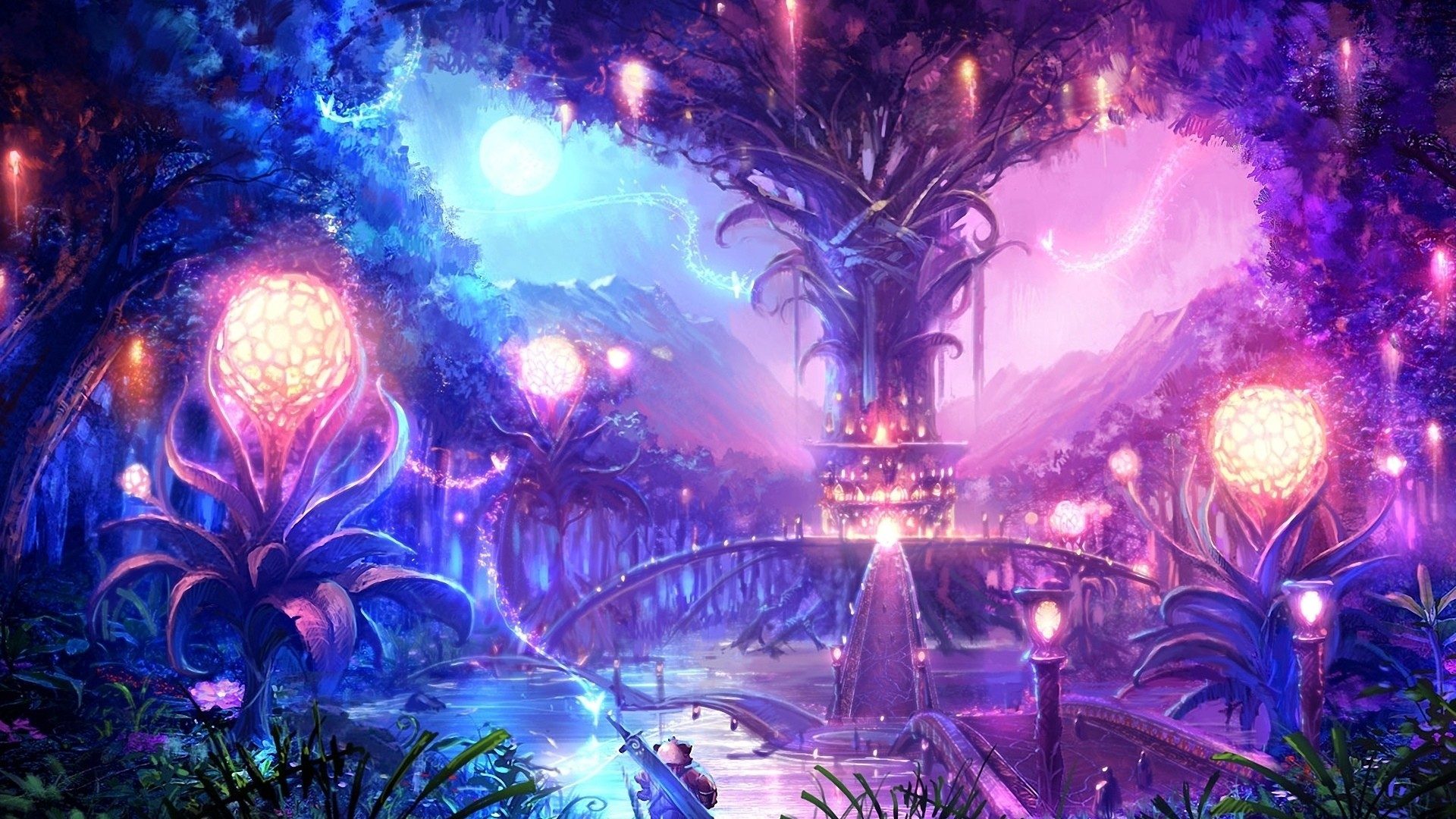 Res: 1920x1080, Anime Fantasy Landscape Wallpapers Hd