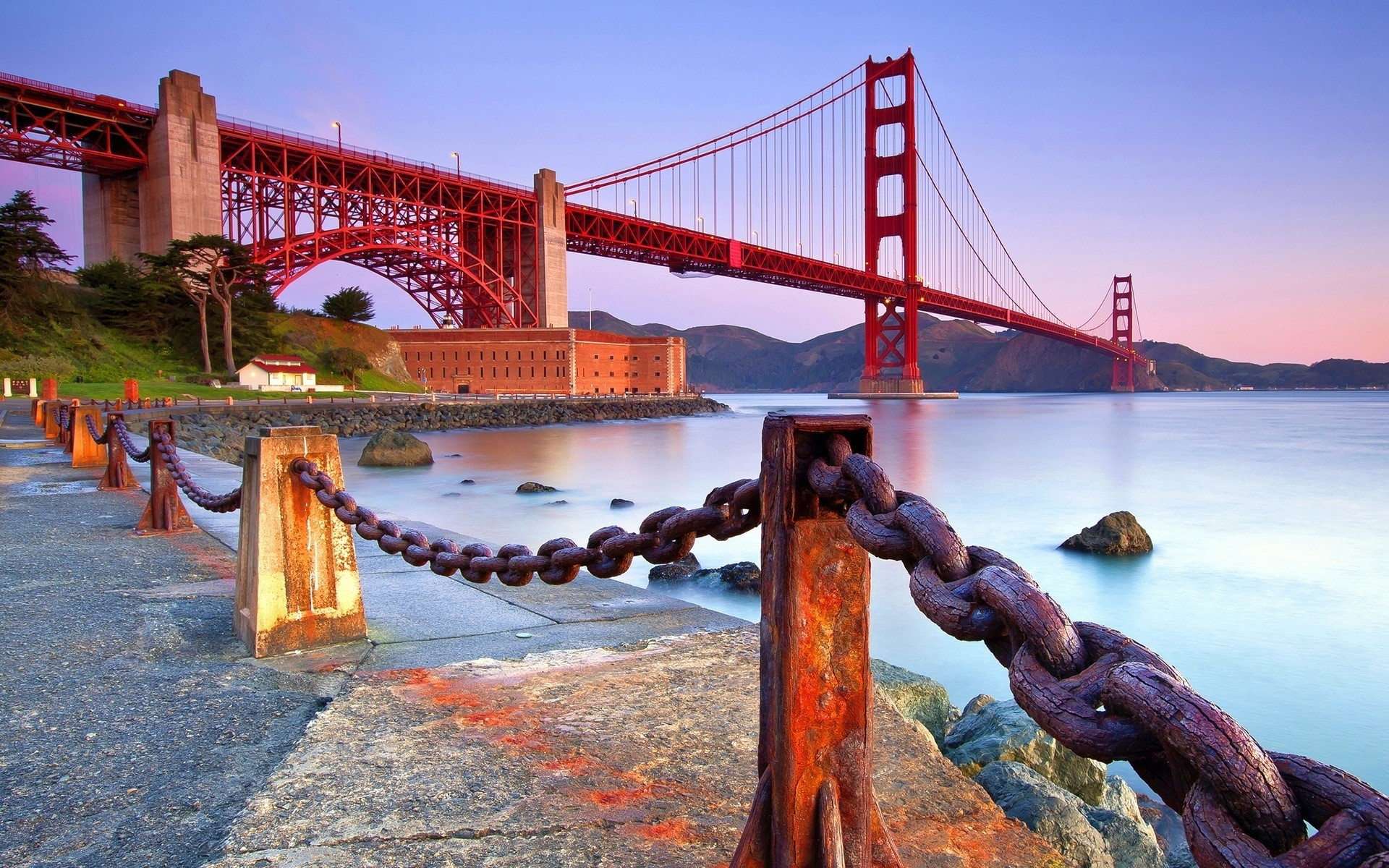 Res: 1920x1200, Costa en el punte Golden Gate Full HD | Wallpaper