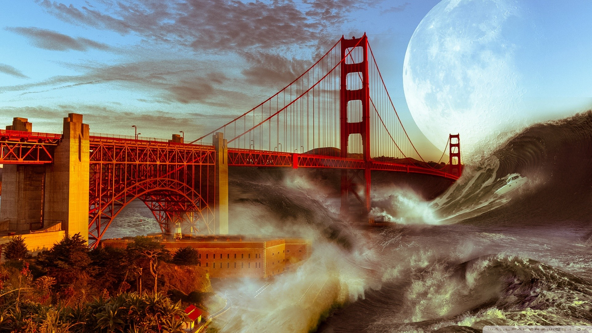 Res: 1920x1080, Golden Gate Wallpaper HD 12 - 1920 X 1080