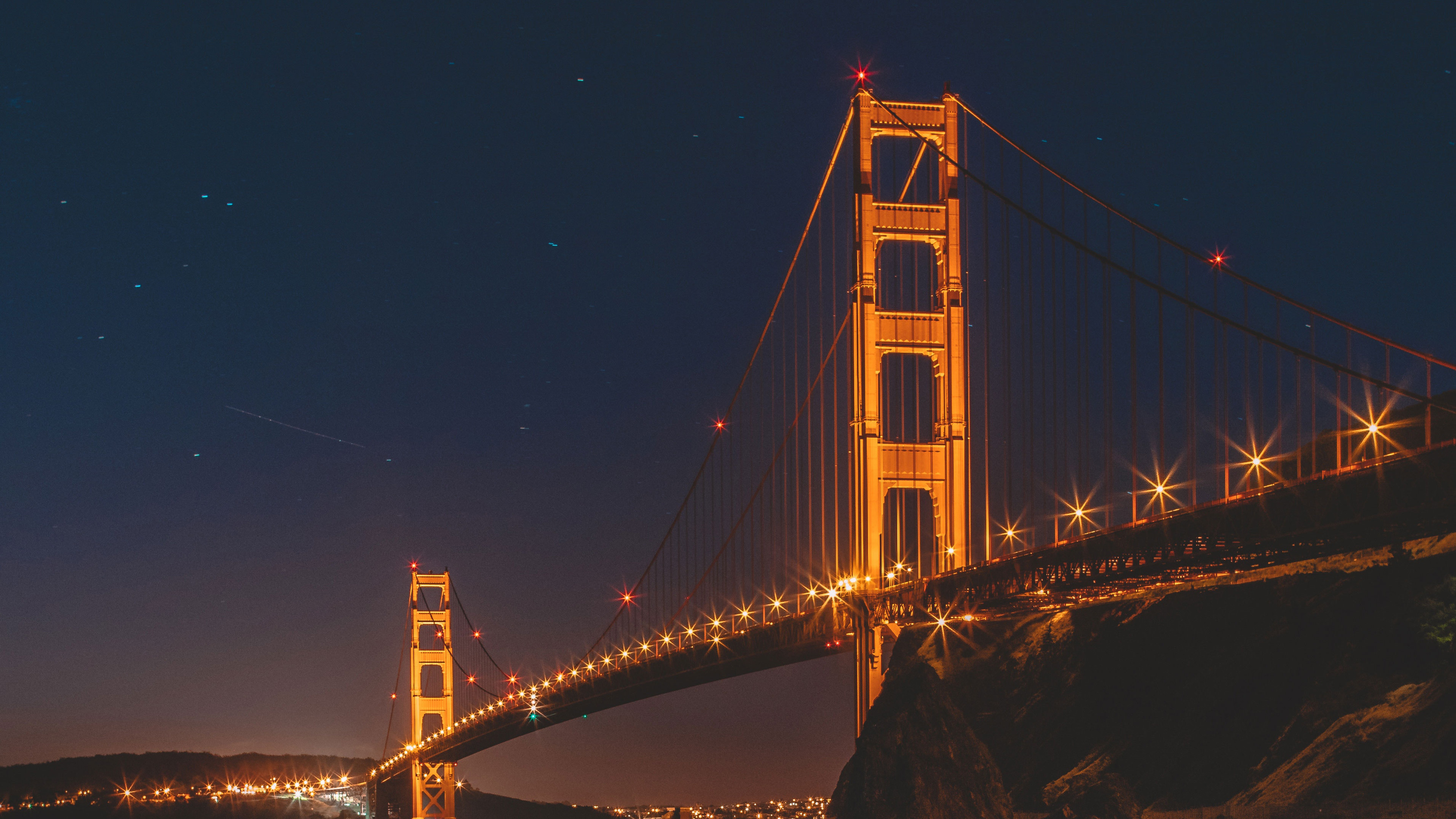 Res: 3840x2160, Golden Gate Bridge Night San Francisco 4K Wallpapers. Golden Gate Bridge  Night San Francisco 4K Wallpapers. Â«Â«