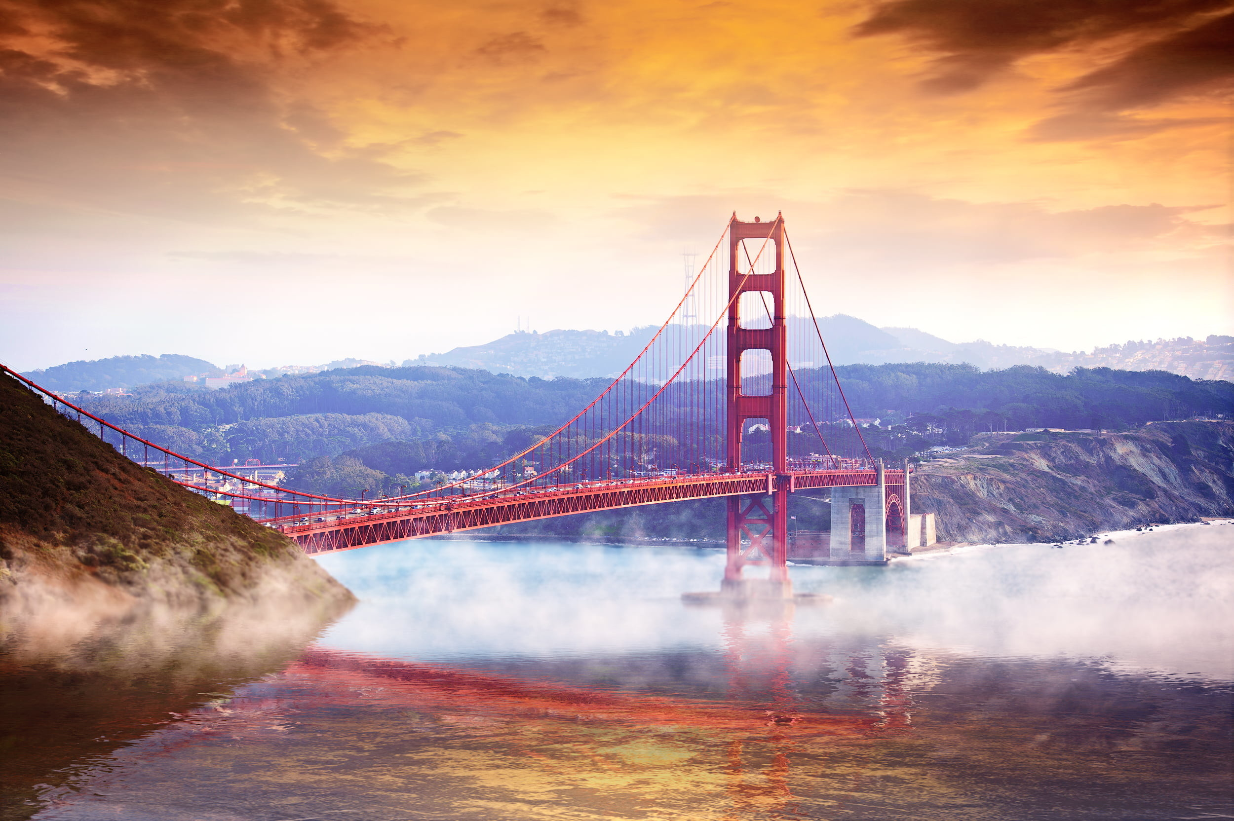 Res: 2500x1664, Golden gate bridge, reverie HD wallpaper