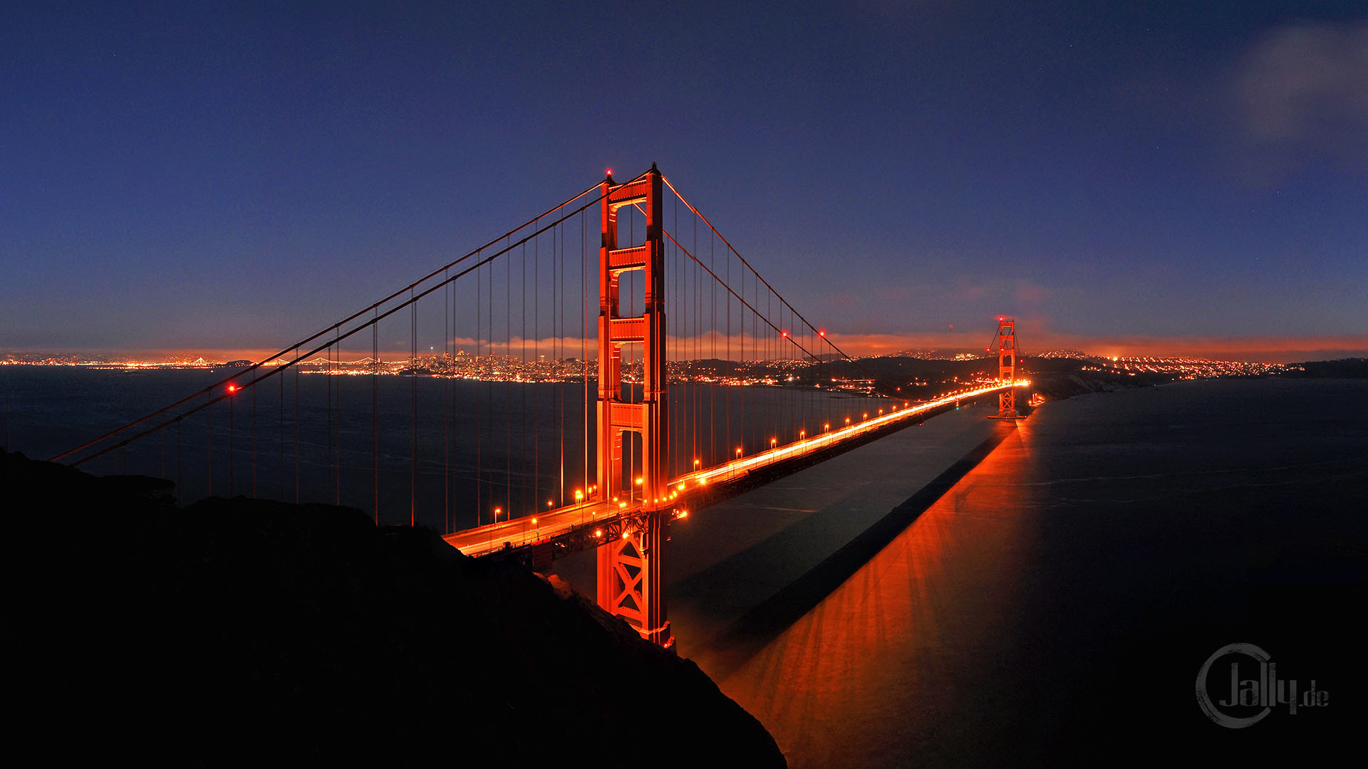 Res: 1920x1080, Golden Gate Bridge Nights Wallpaper 18 - 1920 X 1080