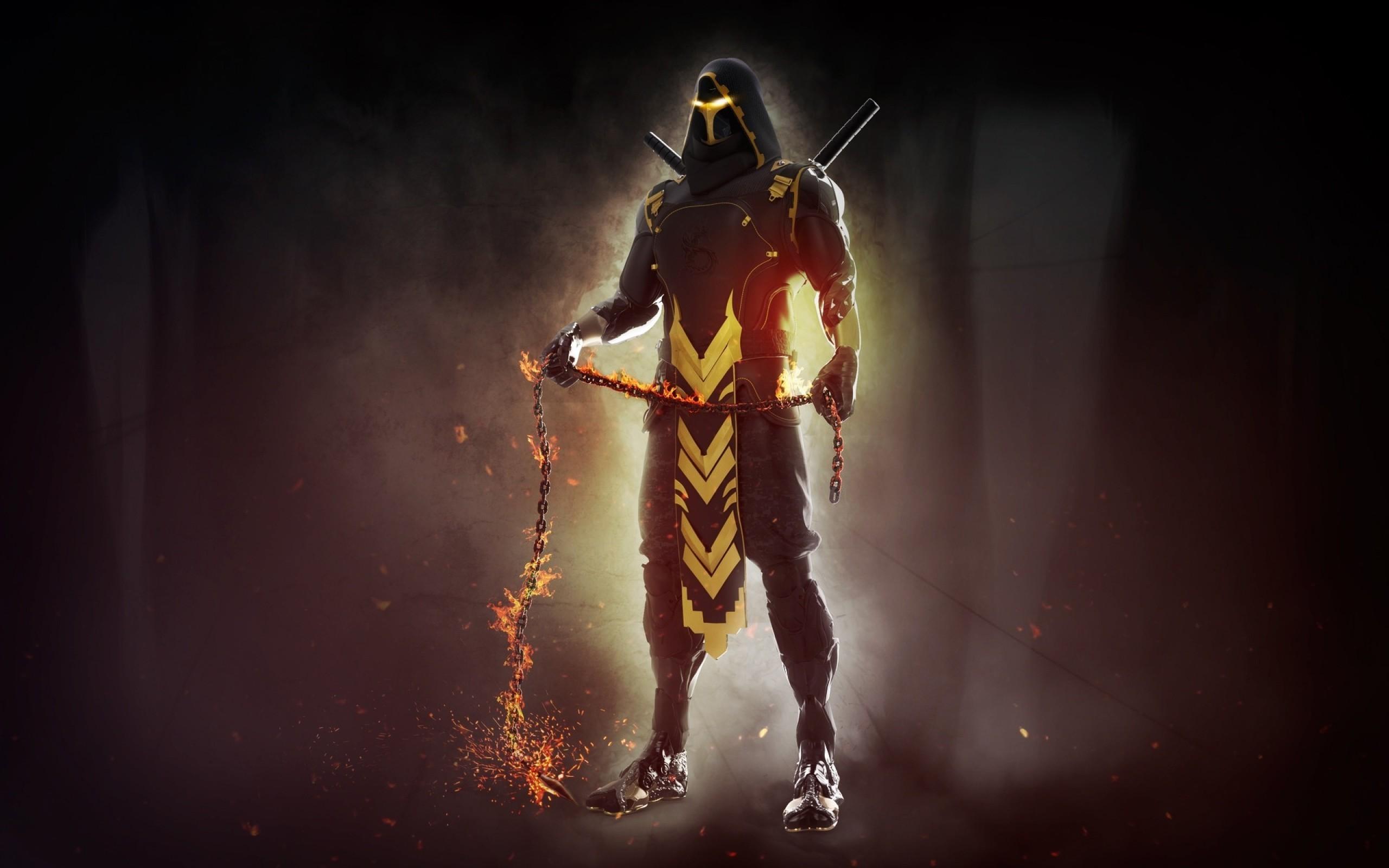 Res: 2560x1600, Download  Mortal Kombat Scorpion Wallpapers For Macbook